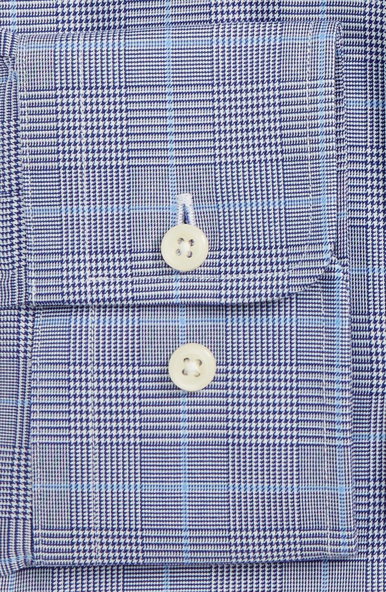Alternate Image 2  - David Donahue Trim Fit Plaid Dress Shirt