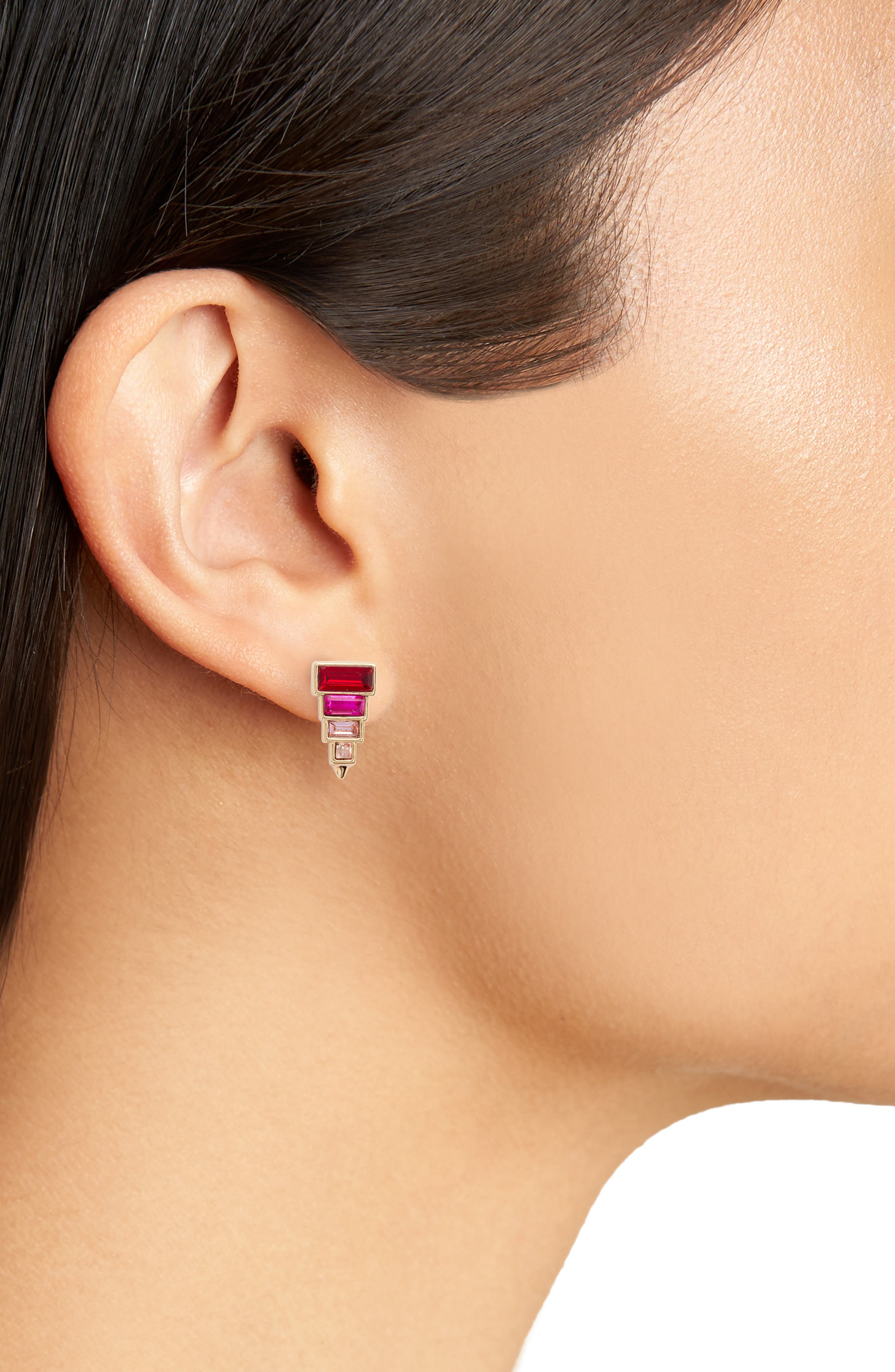 Alternate Image 2  - Rebecca Minkoff Stacked Crystal Studs
