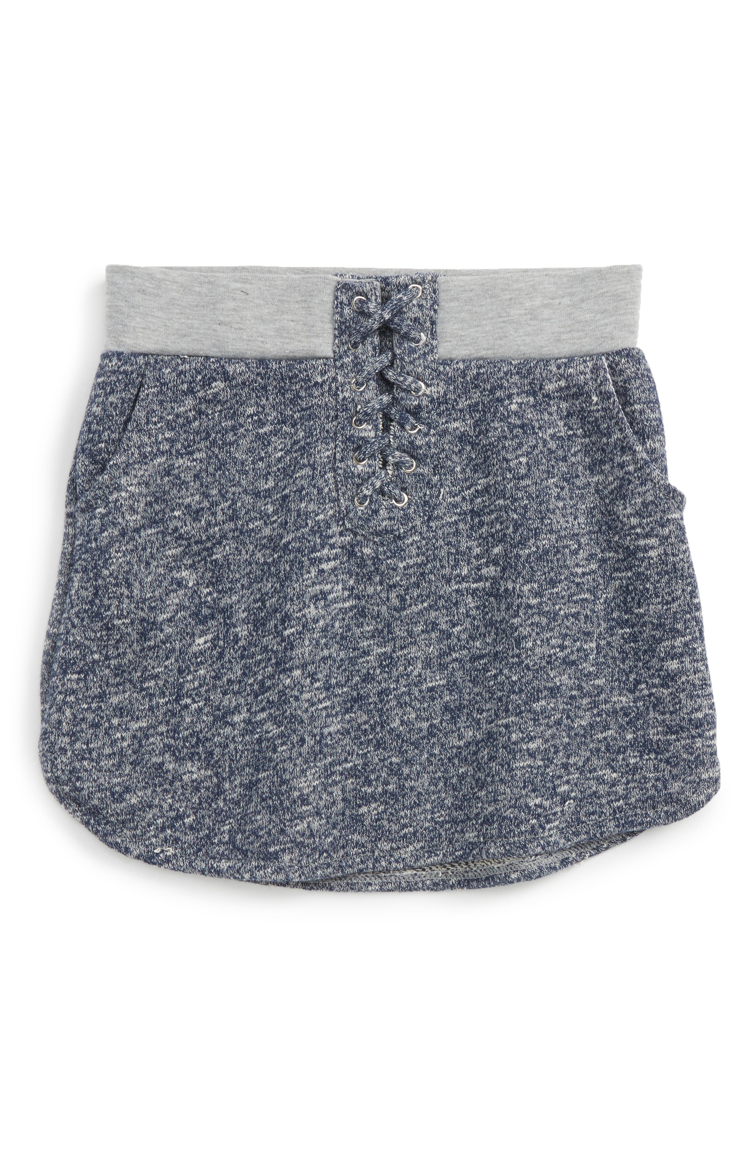 Lace-Up Skirt,                             Main thumbnail 1, color,                             Grey