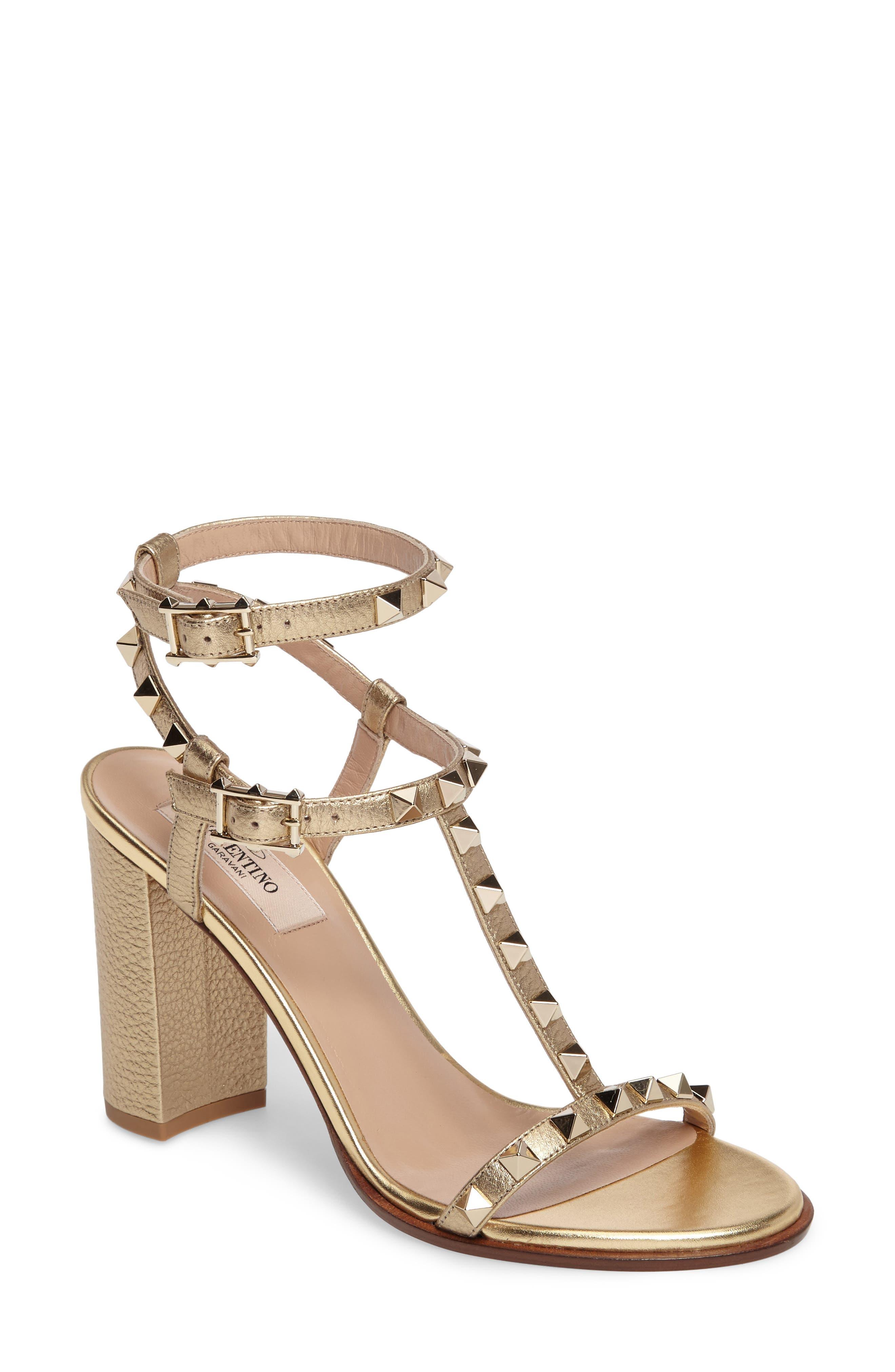 Main Image - VALENTINO GARAVANI Rockstud Ankle Strap Sandal (Women)