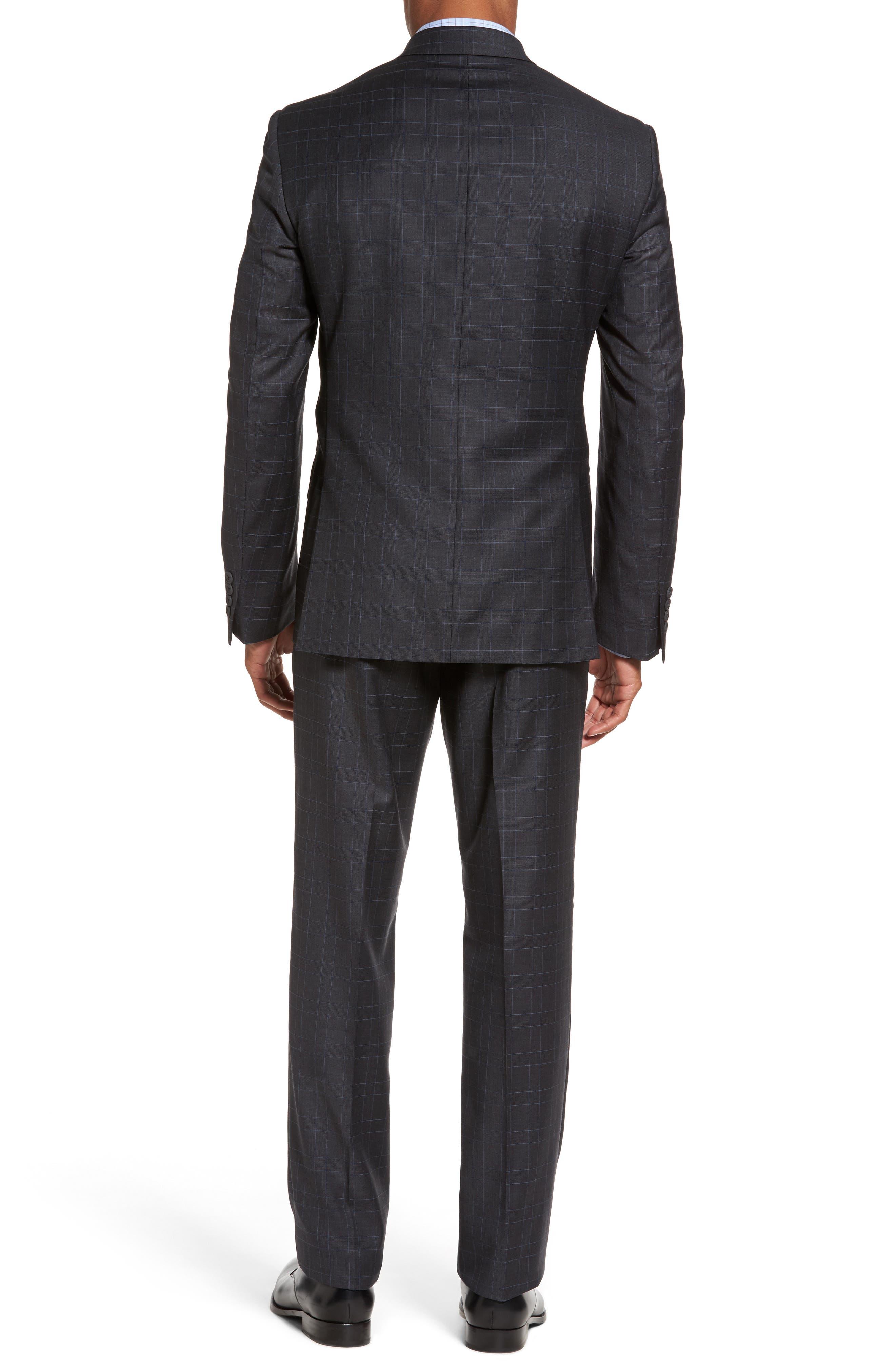 Alternate Image 2  - Nordstrom Men's Shop Classic Fit Plaid Wool Suit