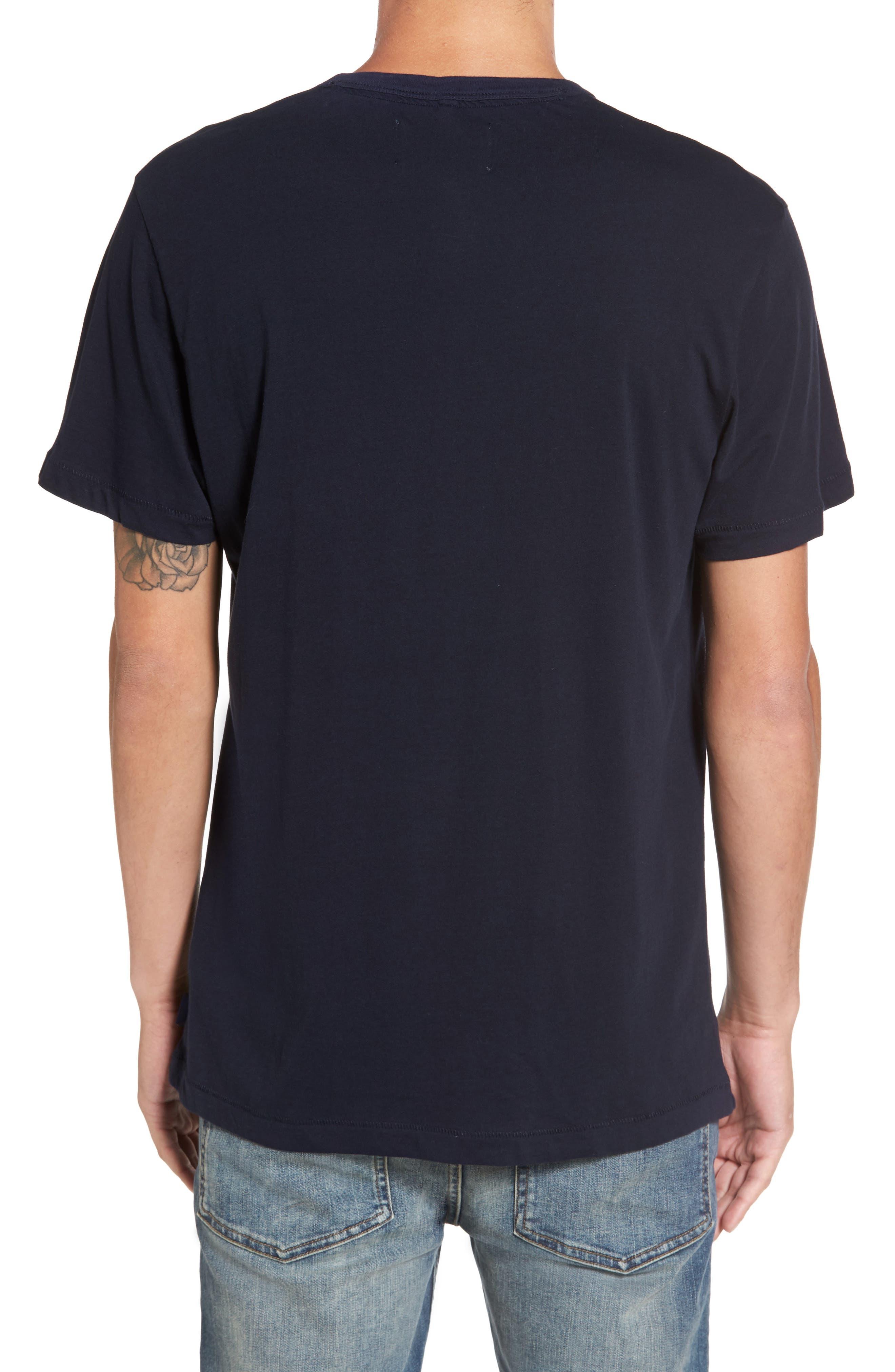Henley T-Shirt,                             Alternate thumbnail 2, color,                             Marine Blue