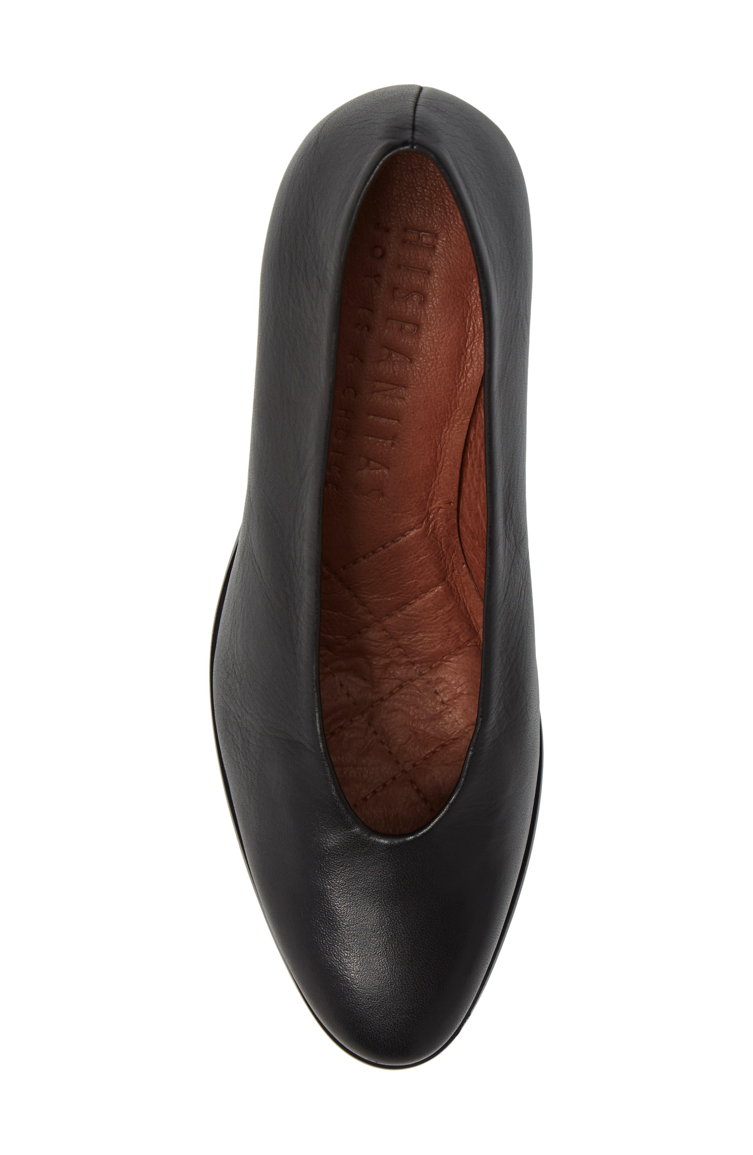 Maddie Block Heel Pump,                             Alternate thumbnail 6, color,                             Soho Black Leather