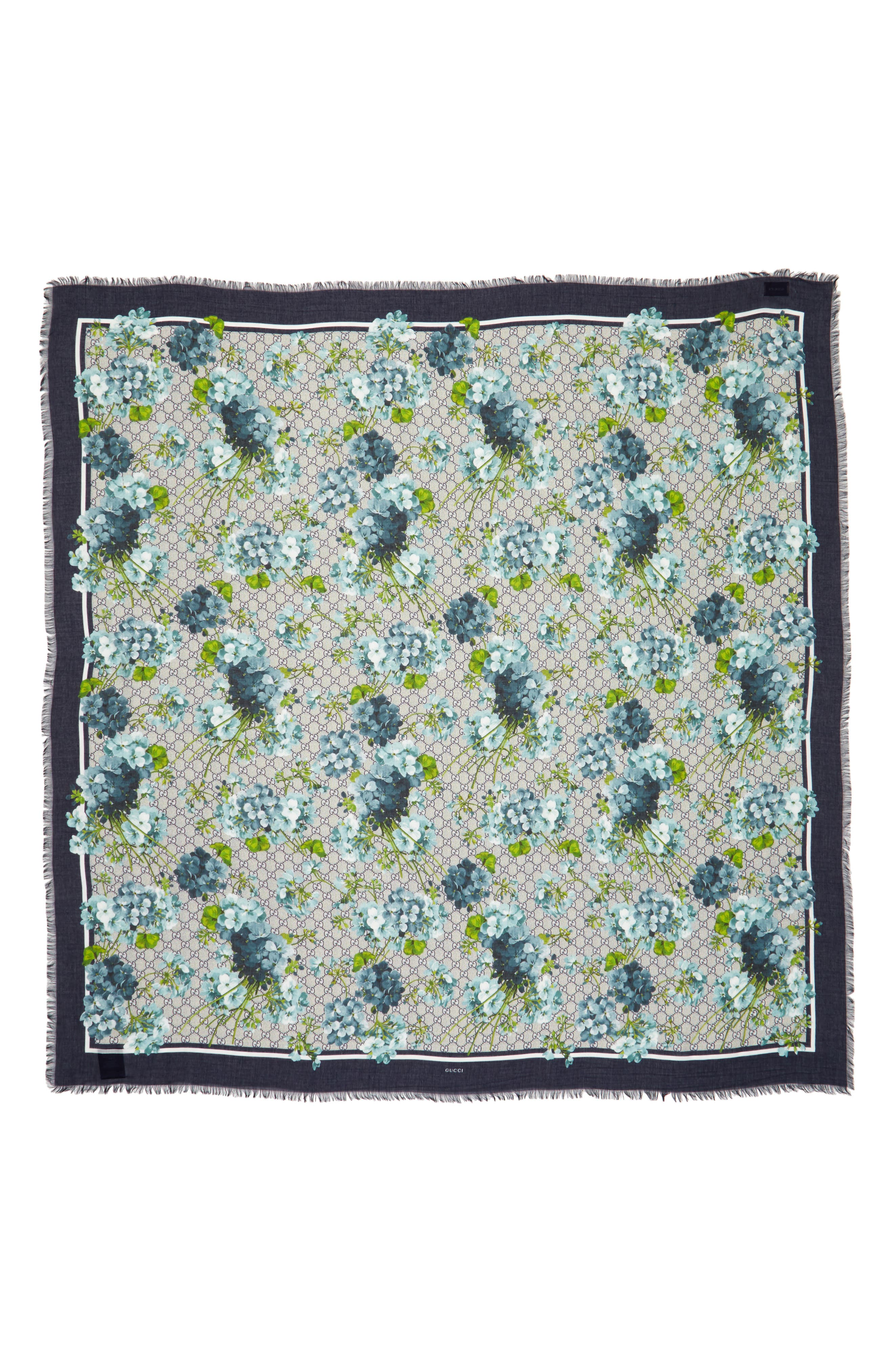 Alternate Image 1 Selected - Gucci GG Blooms Shawl