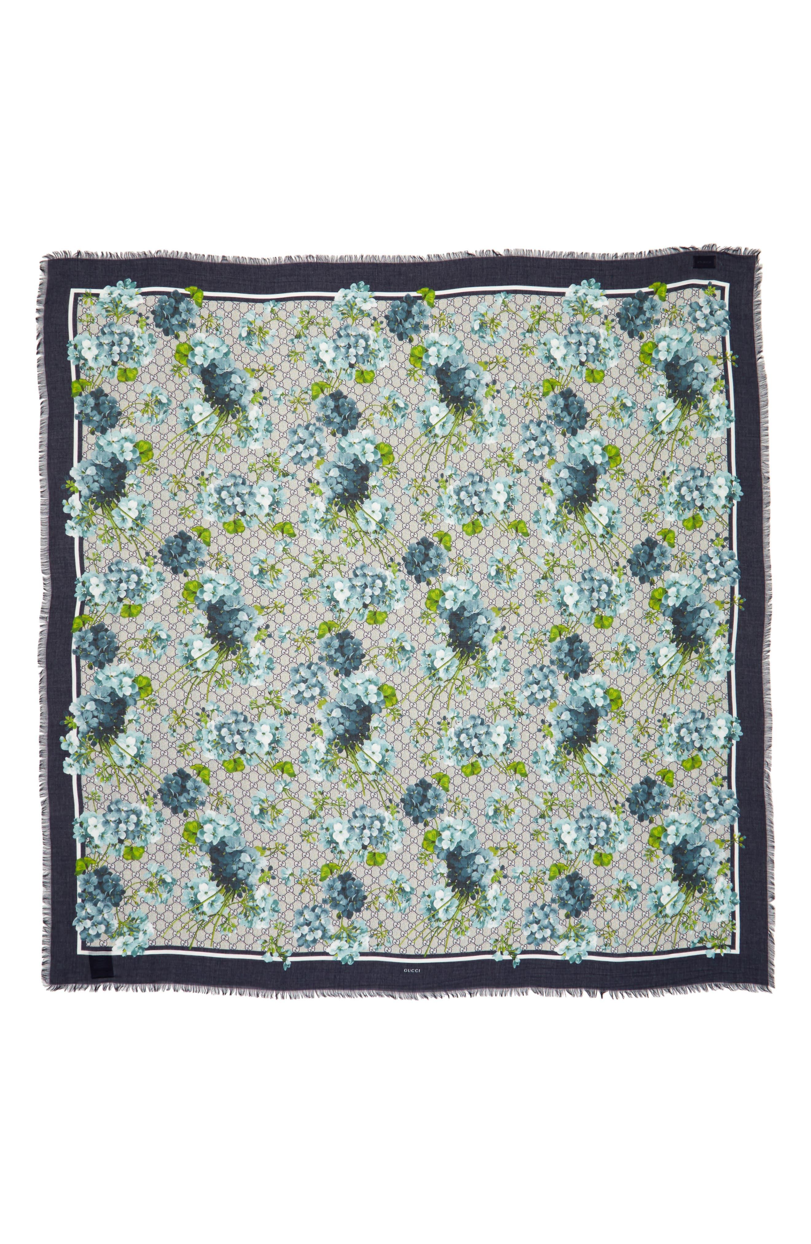 GG Blooms Shawl,                         Main,                         color, Blue Midni