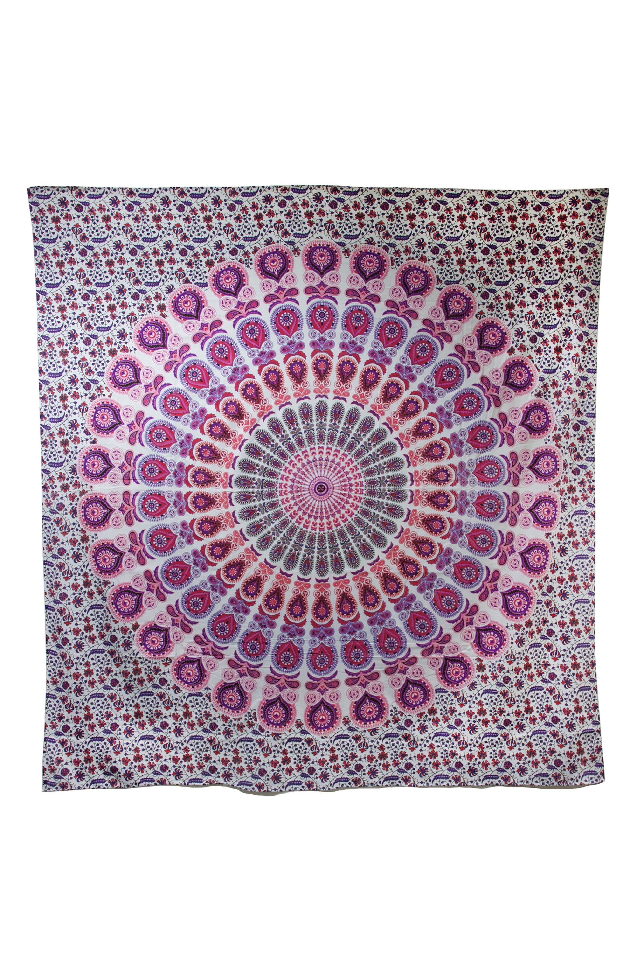 Shanaya Wall Tapestry,                         Main,                         color, Pink