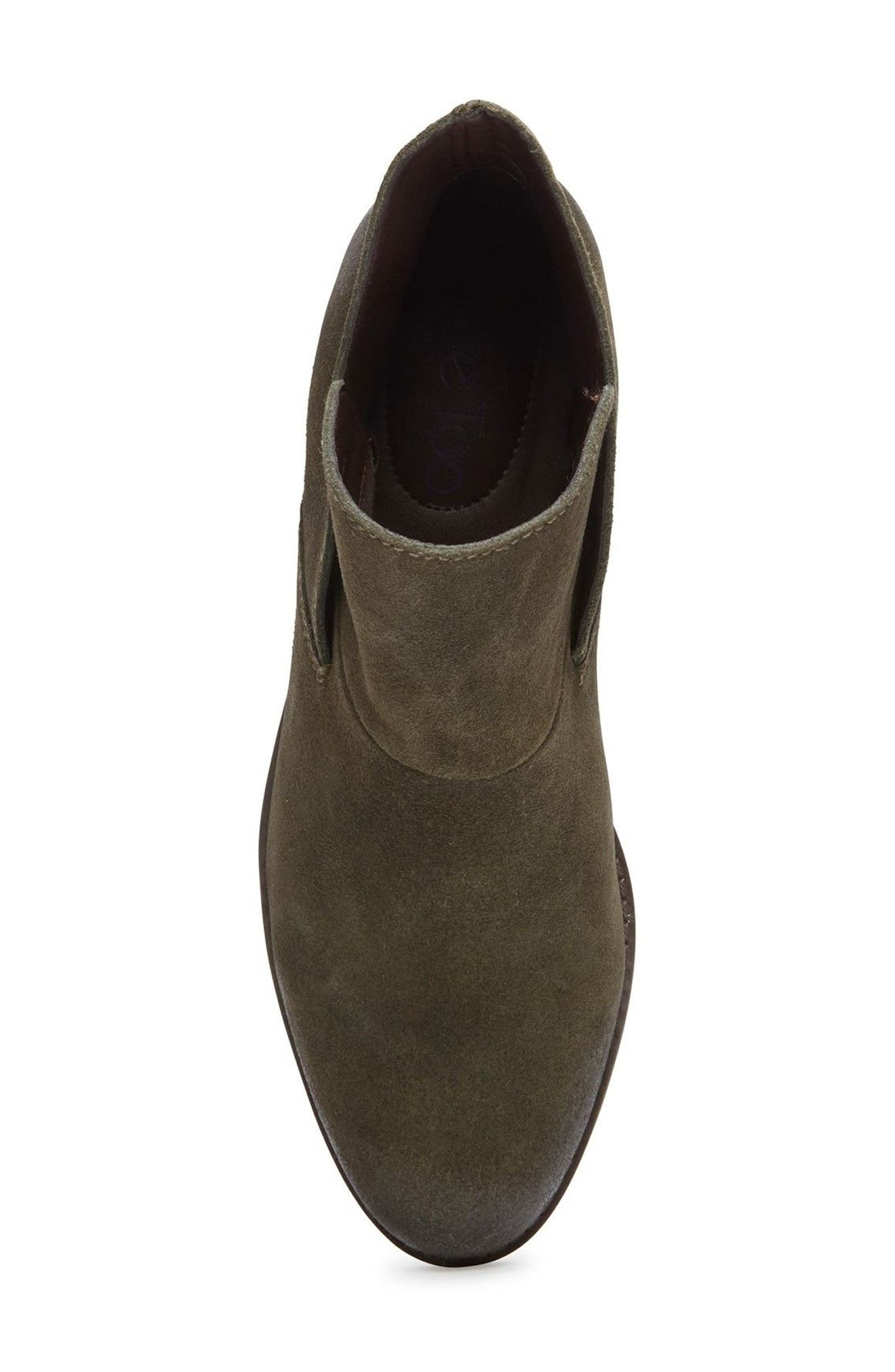 Me Too Zena Ankle Boot,                             Alternate thumbnail 4, color,                             Moss Suede