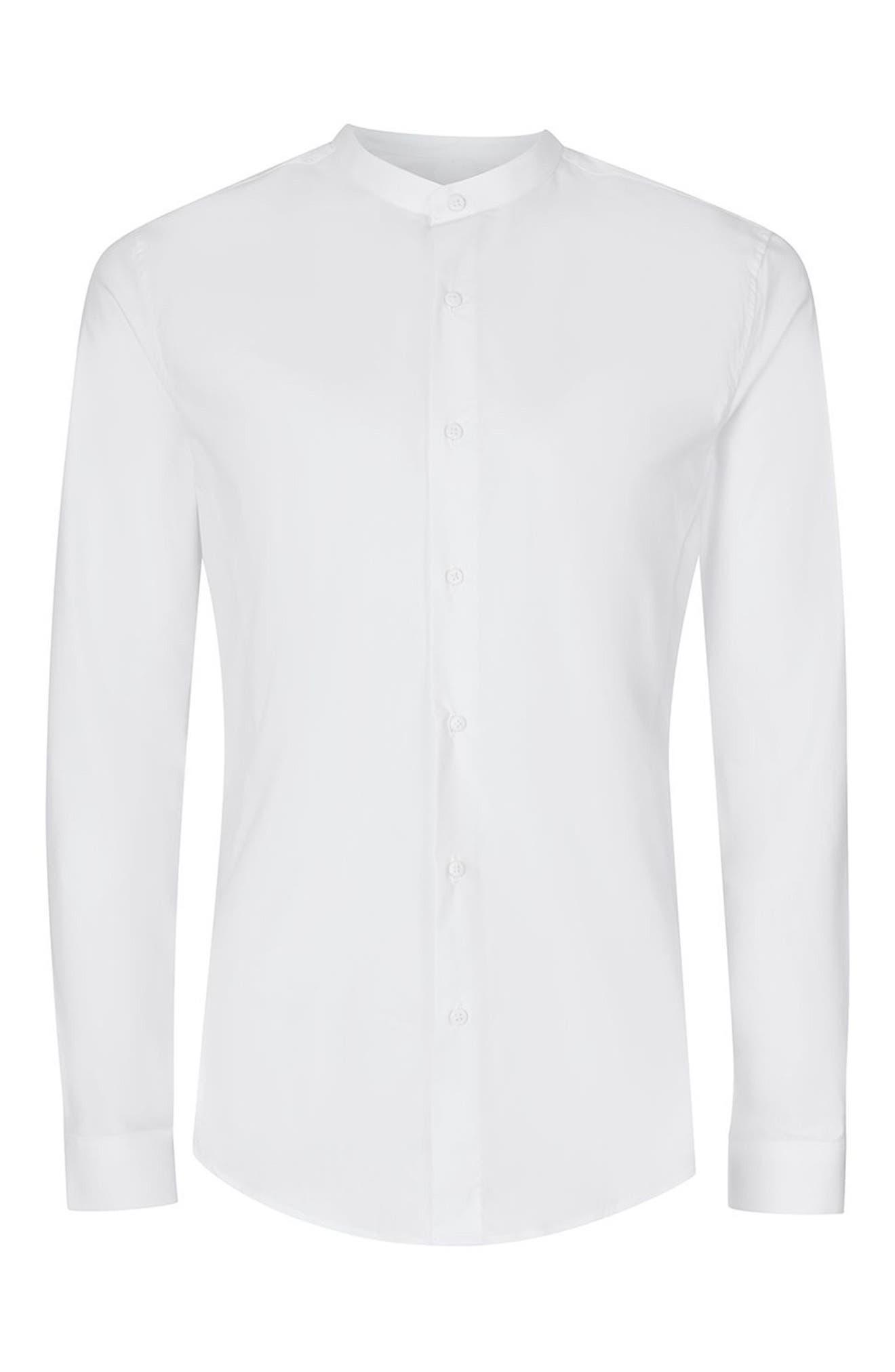 Alternate Image 6  - Topman Band Collar Skinny Fit Dress Shirt
