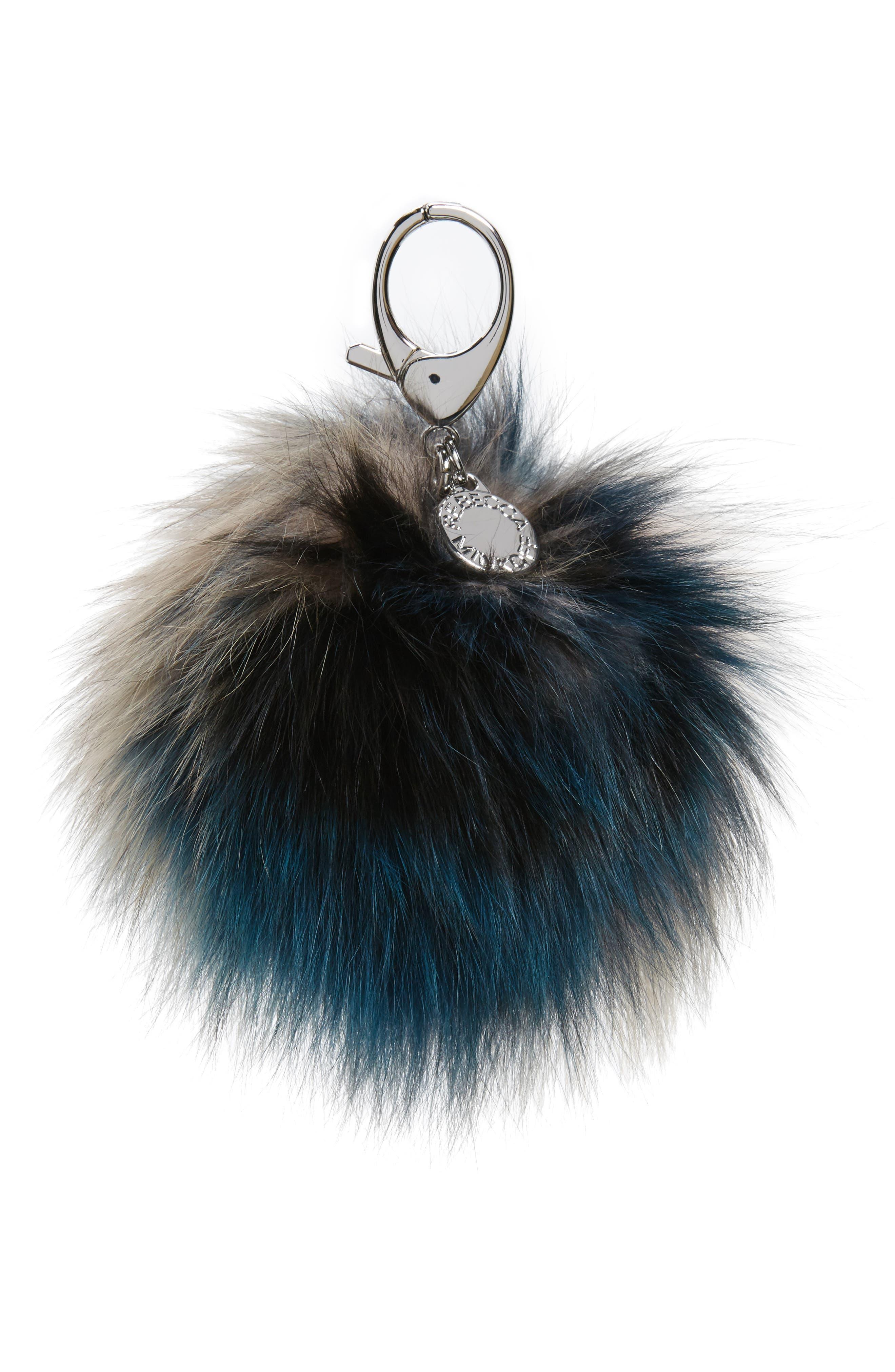 Rebecca Minkoff Genuine Fox Fur Pom Pom Bag Charm