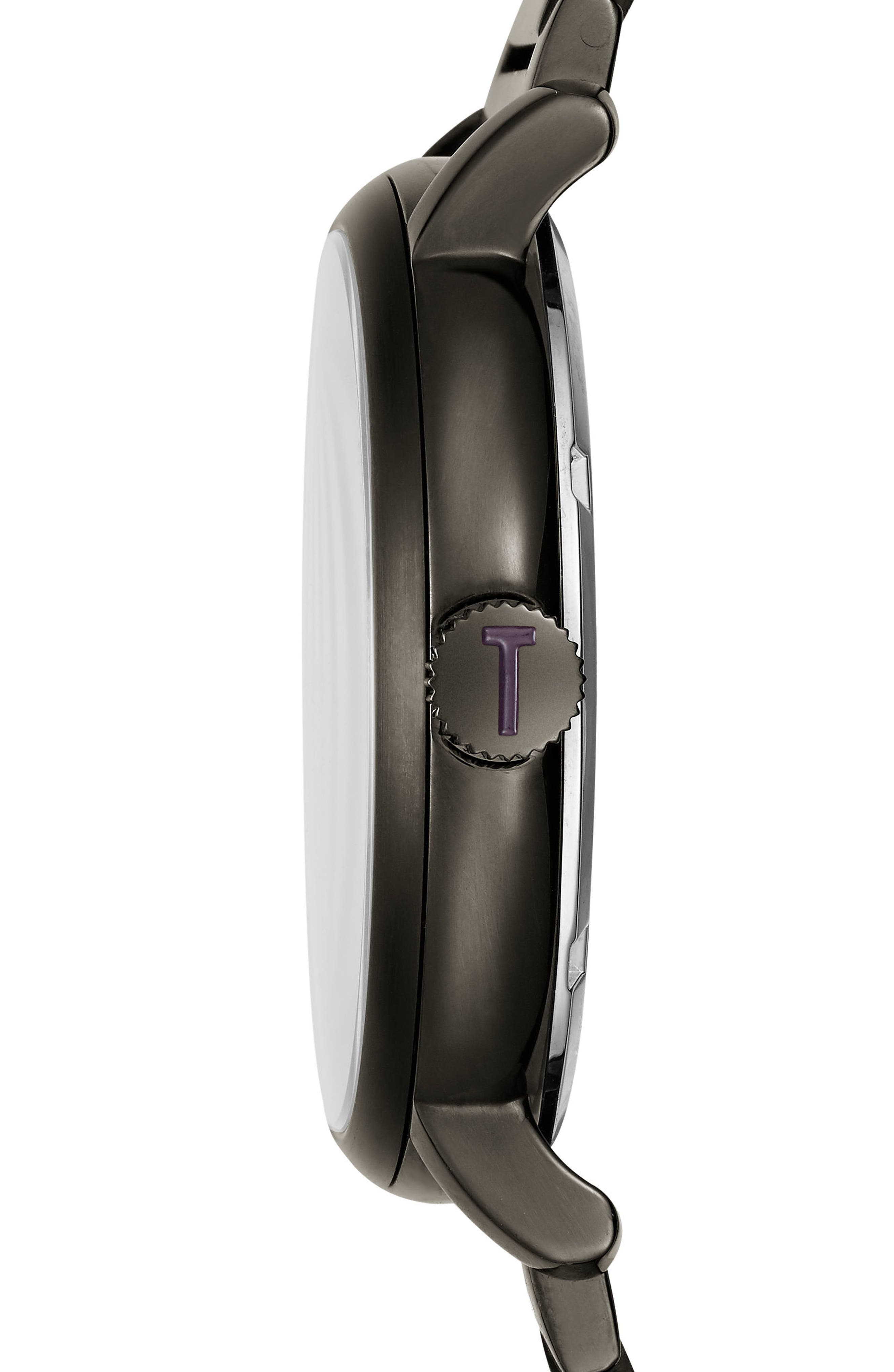 Trent Bracelet Watch, 44mm,                             Alternate thumbnail 3, color,                             Brown/ Gunmetal