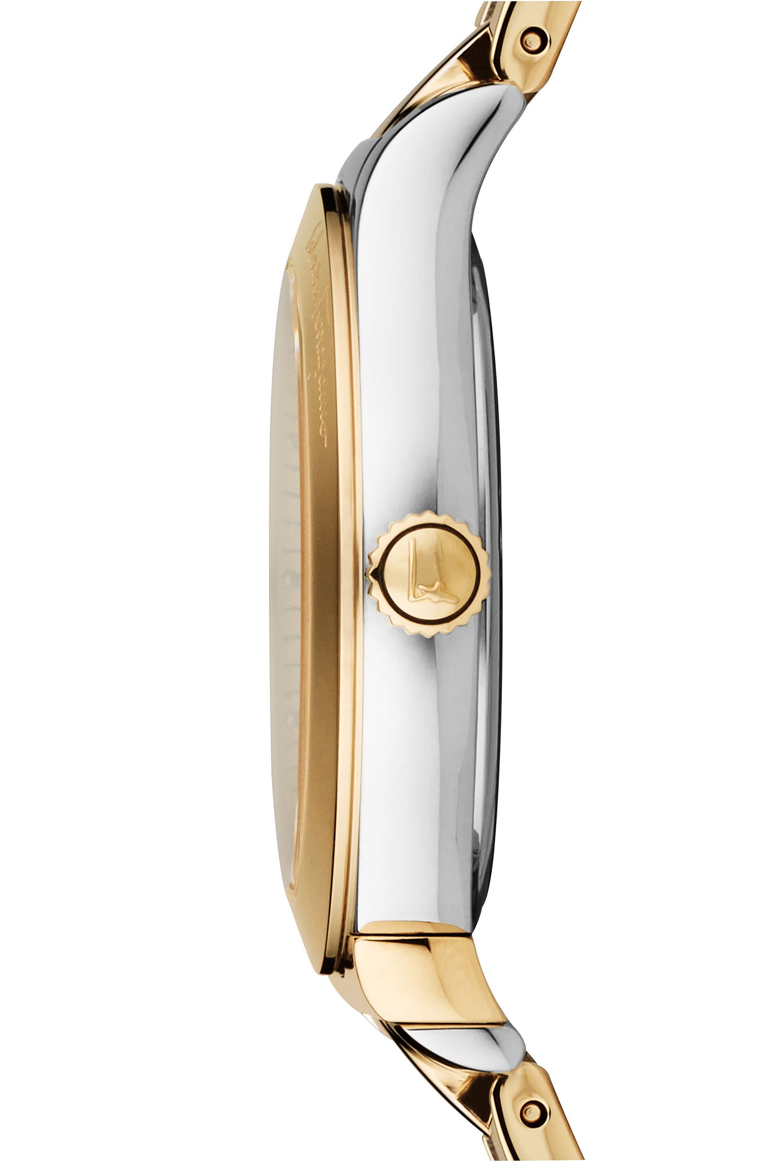 Alternate Image 3  - Salvatore Ferragamo 1898 Bracelet Watch, 33mm
