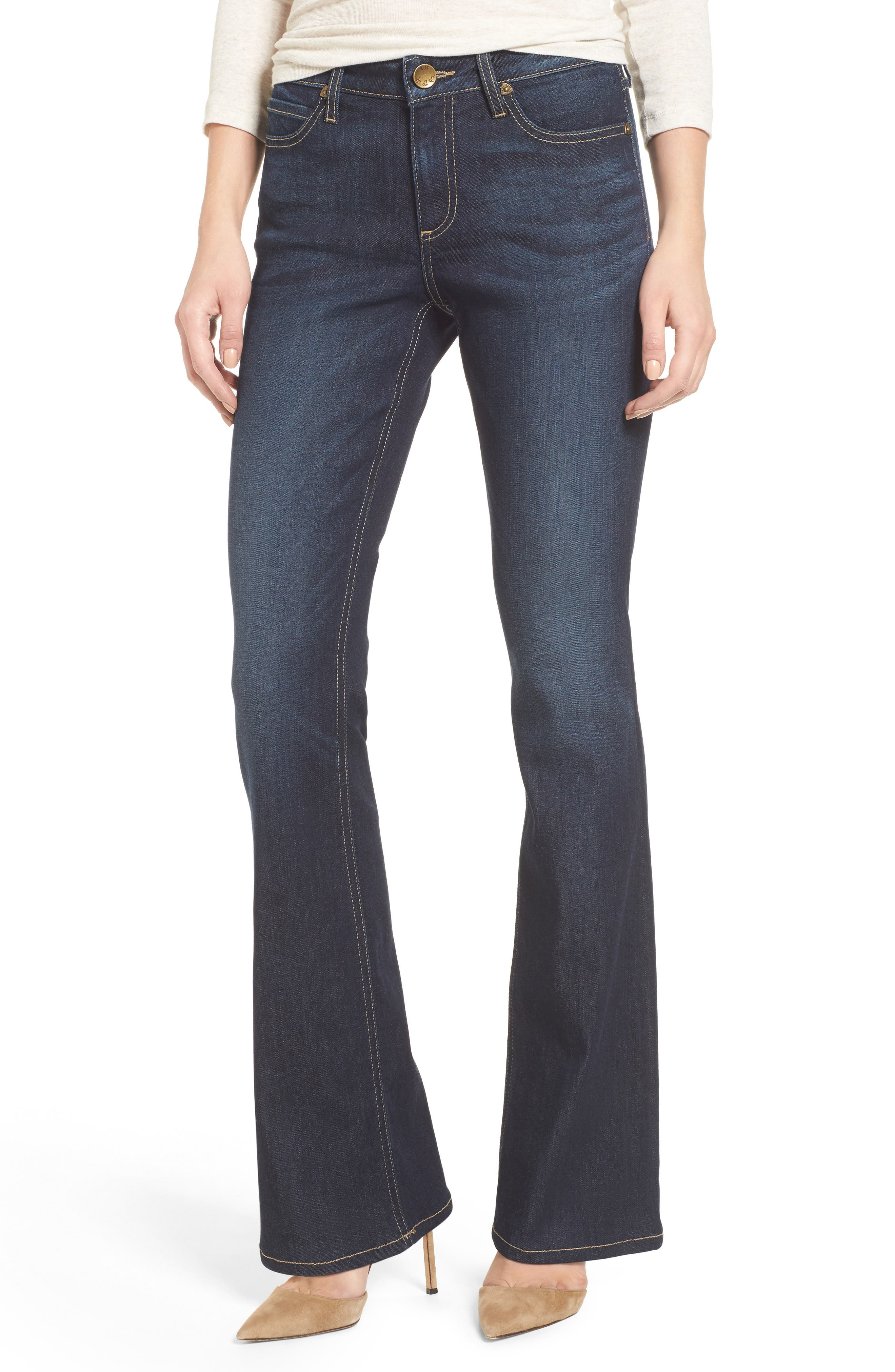 KUT from the Kloth Natalie Curvy Fit Bootleg Jeans (Admirably) (Regular & Petite)