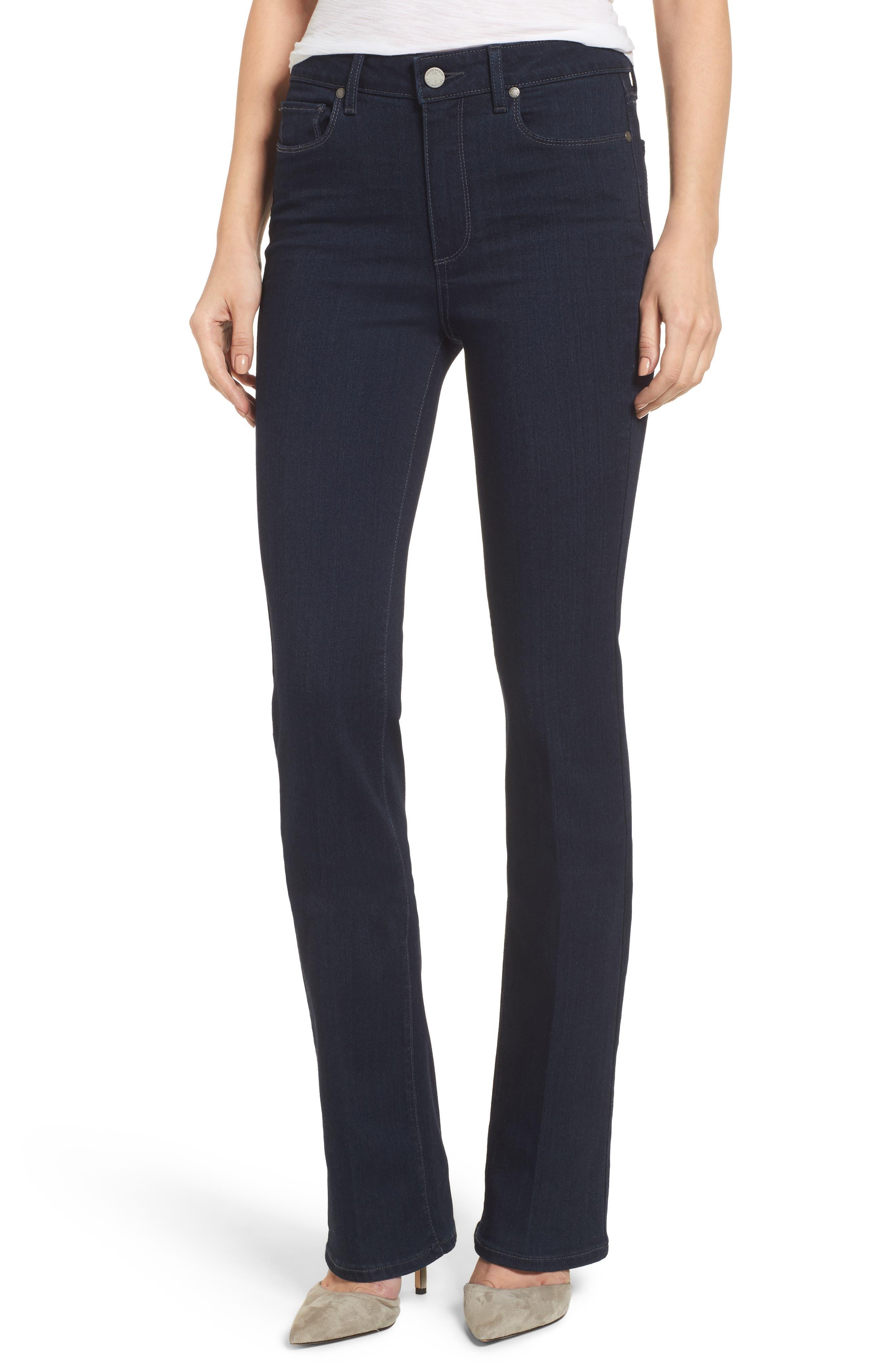 PAIGE Transcend - Manhattan High Rise Bootcut Jeans