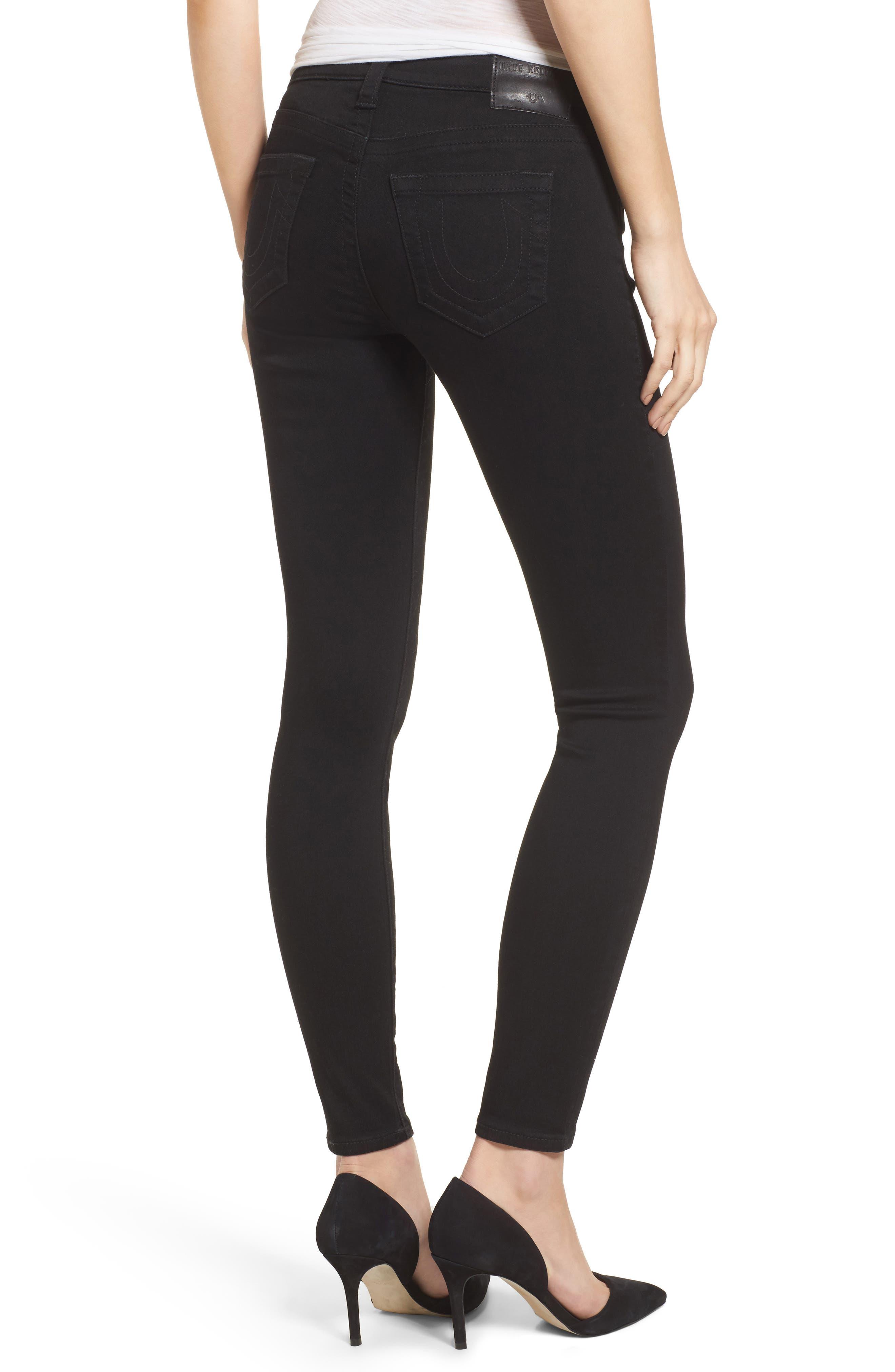 Halle Super Skinny Jeans,                             Alternate thumbnail 2, color,                             Way Back Black
