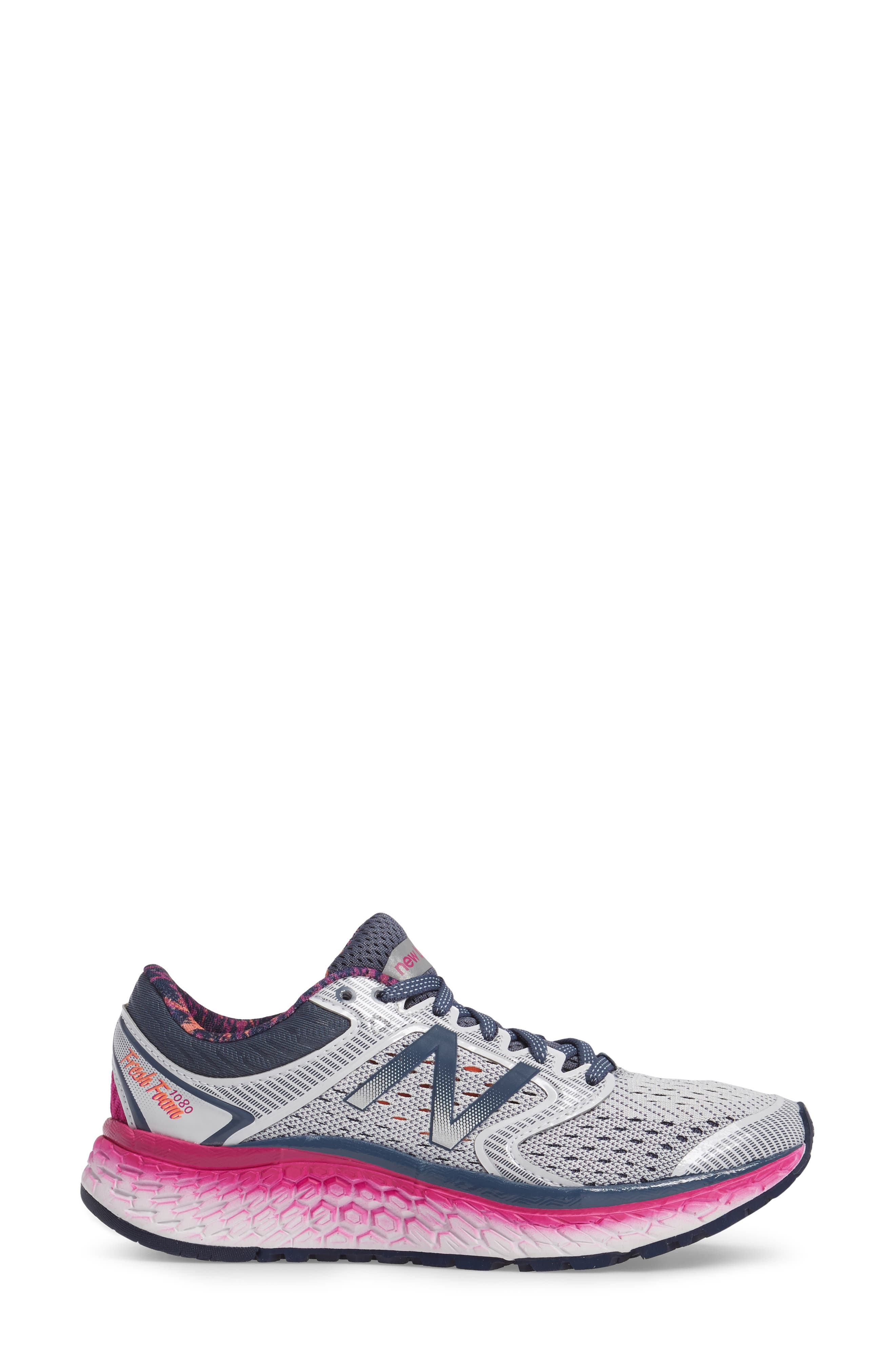 '1080' Running Shoe,                             Alternate thumbnail 3, color,                             Arctic Fox