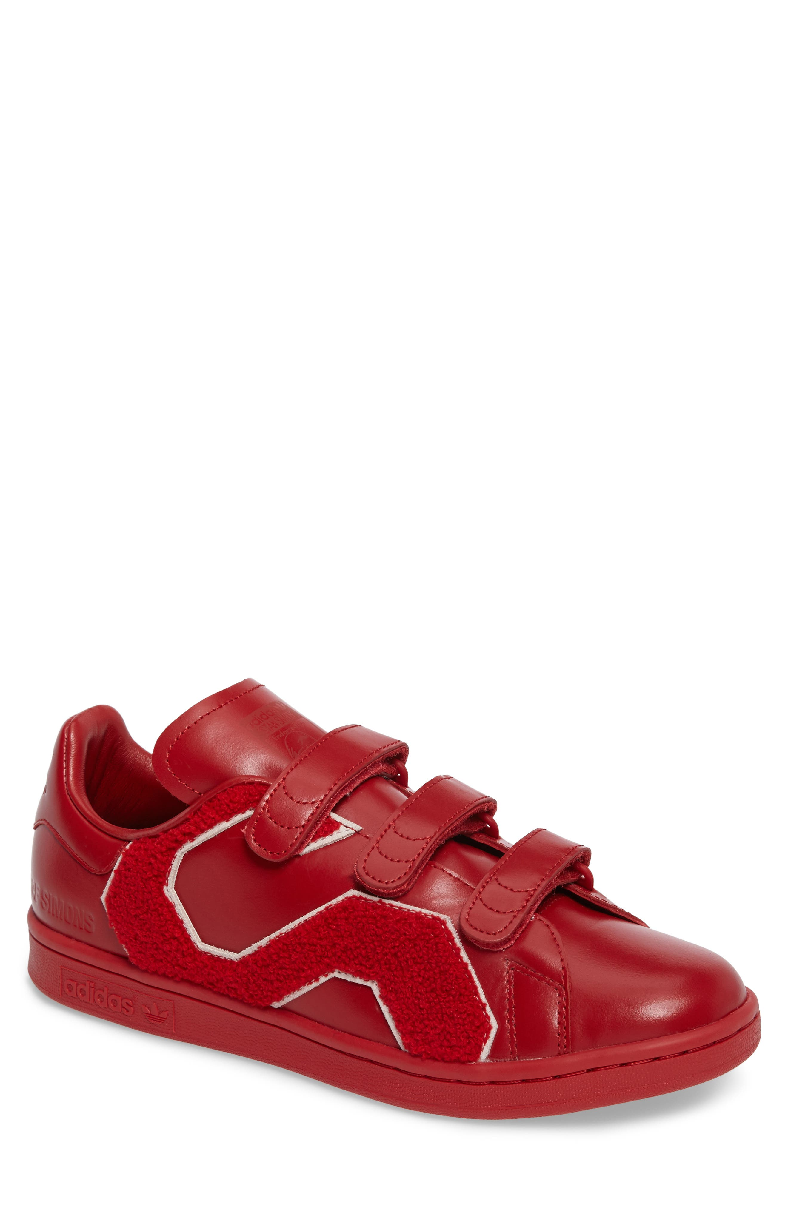 Stan Smith Sneaker,                         Main,                         color, Powder Red