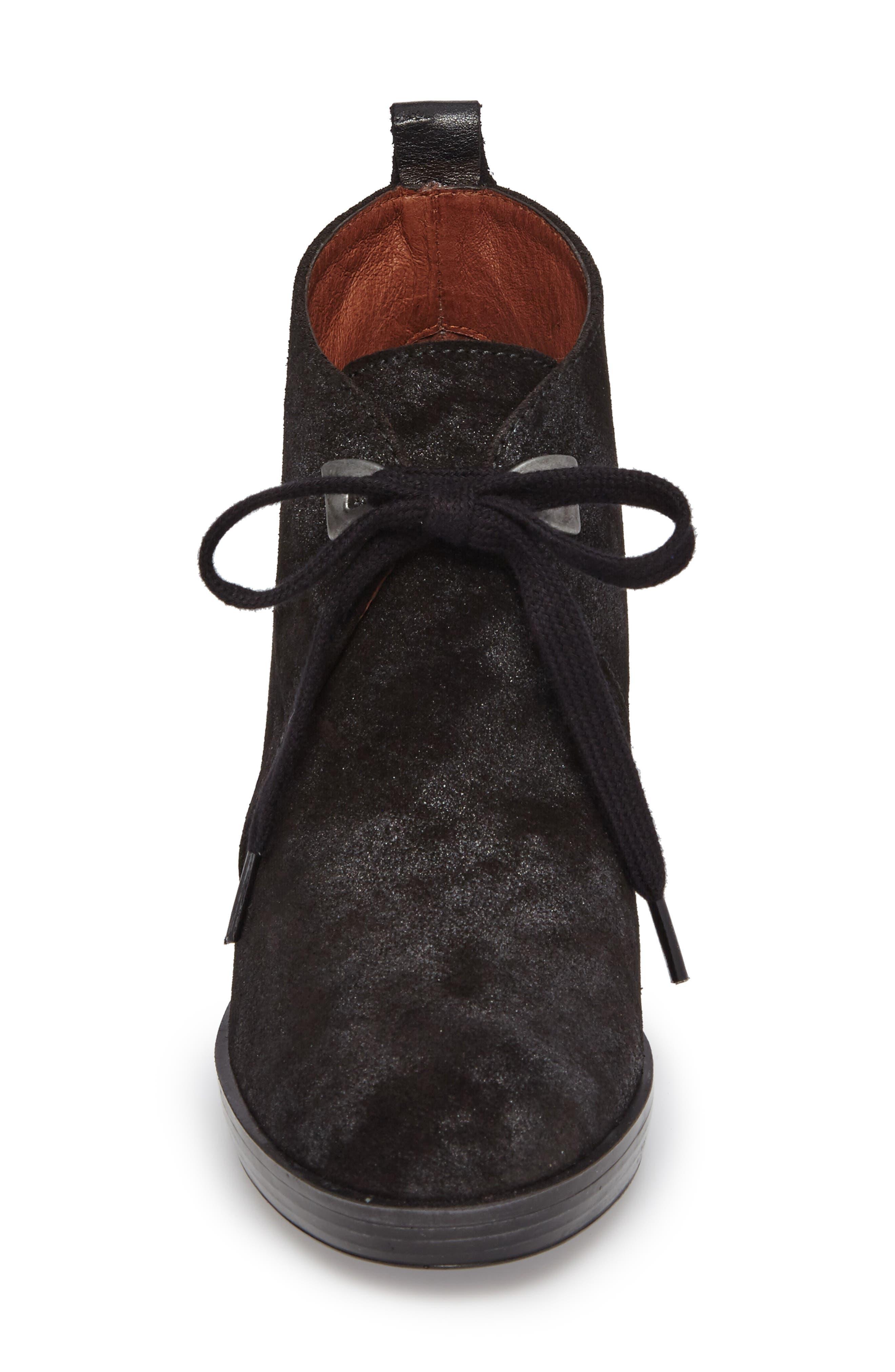 Dasia Bow Bootie,                             Alternate thumbnail 4, color,                             Brut Black Leather
