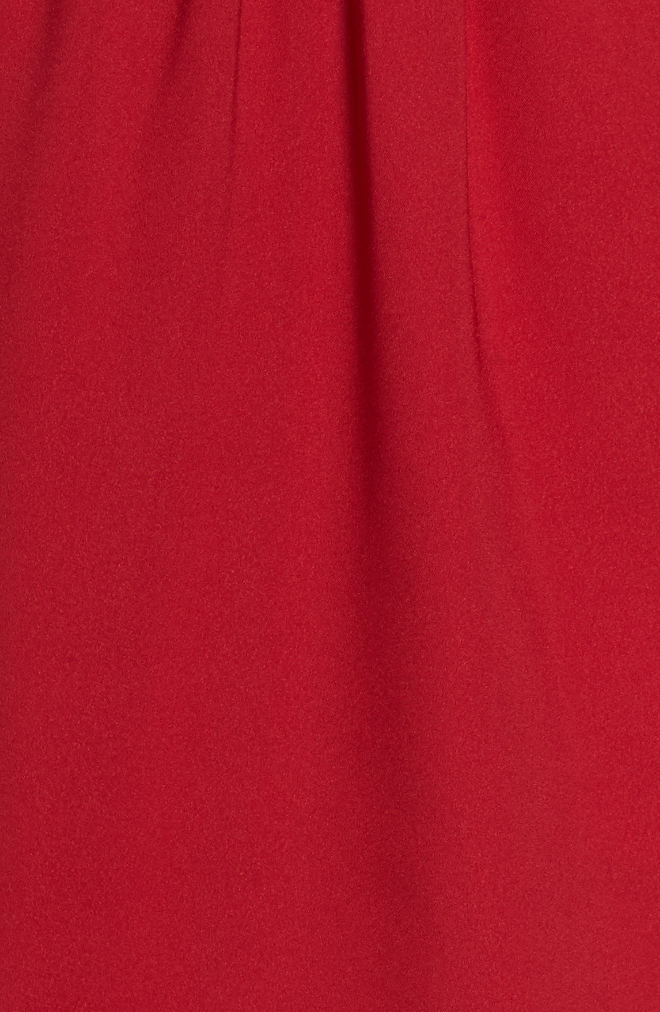 Cold Shoulder Dress,                             Alternate thumbnail 5, color,                             Cherry