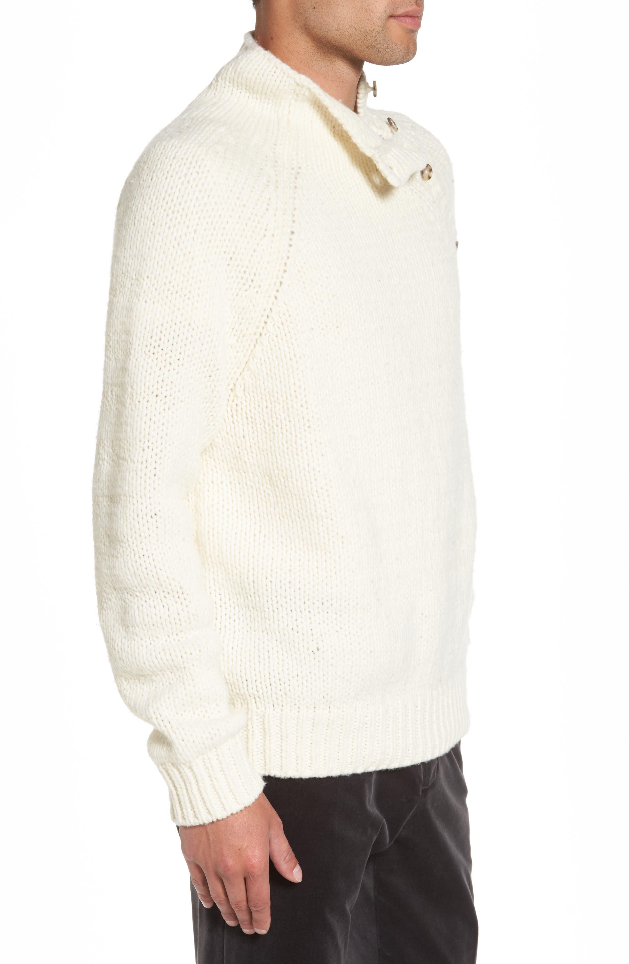 Alternate Image 3  - Vince Side Button Mock Neck Sweater