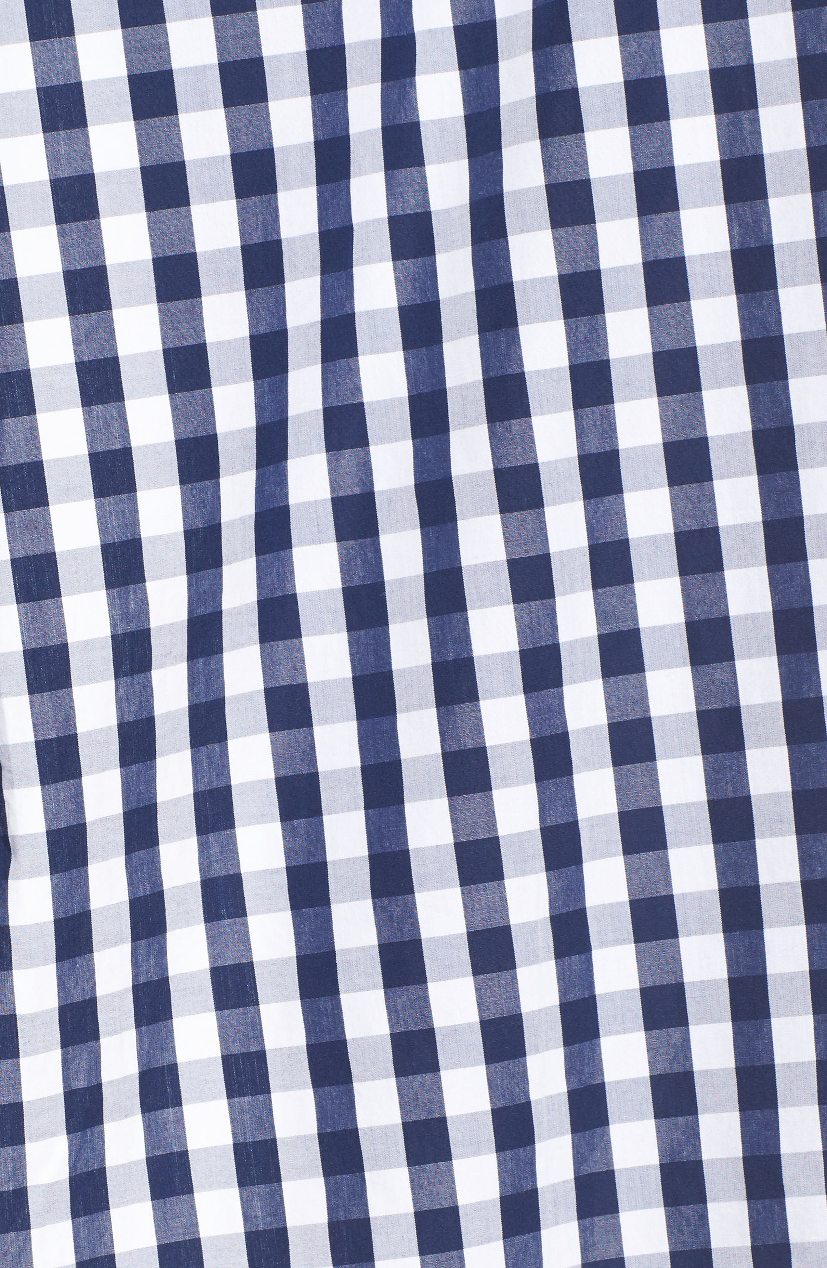 Seabreeze Gingham Pocket Shirt,                             Alternate thumbnail 5, color,                             Deep Bay