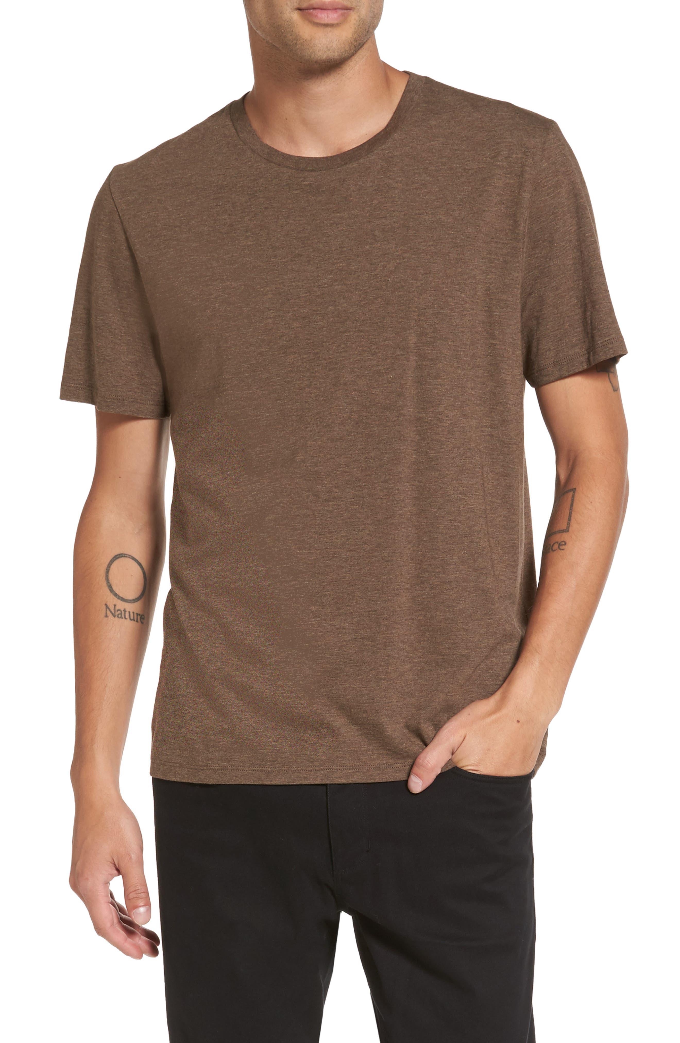 Regular Fit Crewneck T-Shirt,                             Main thumbnail 1, color,                             Bark