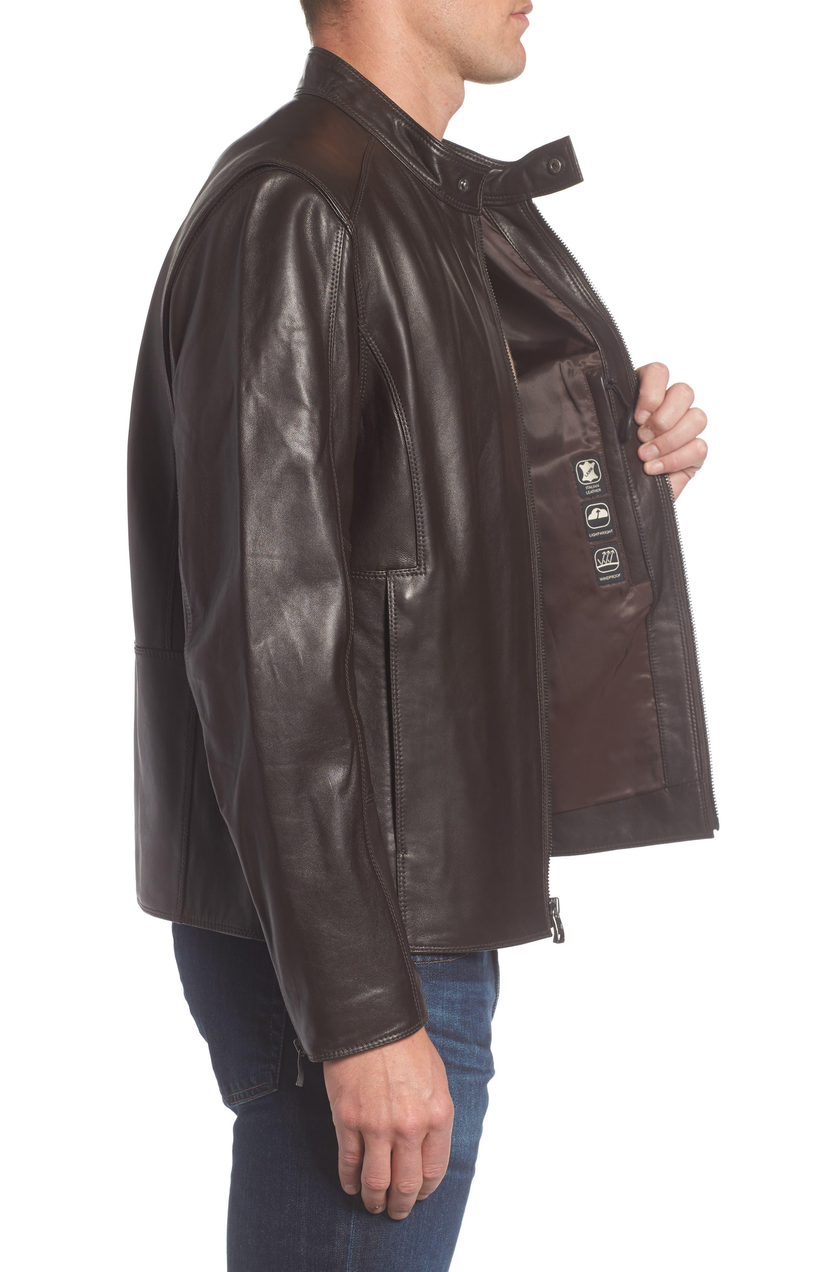 Alternate Image 3  - Andrew Marc Gibson Slim Leather Moto Jacket