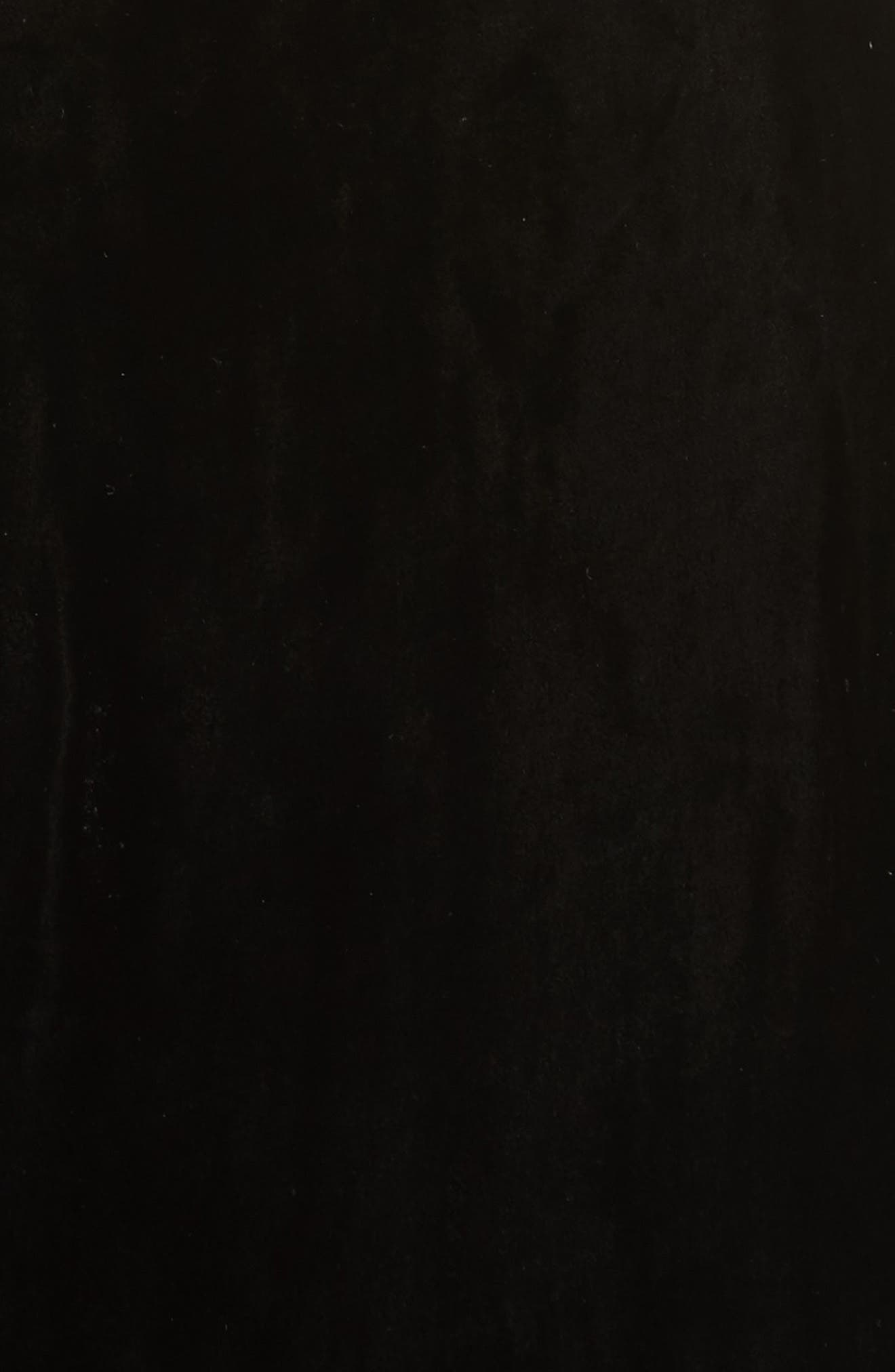 Simmons Velvet Wrap Maxi Dress,                             Alternate thumbnail 5, color,                             Black