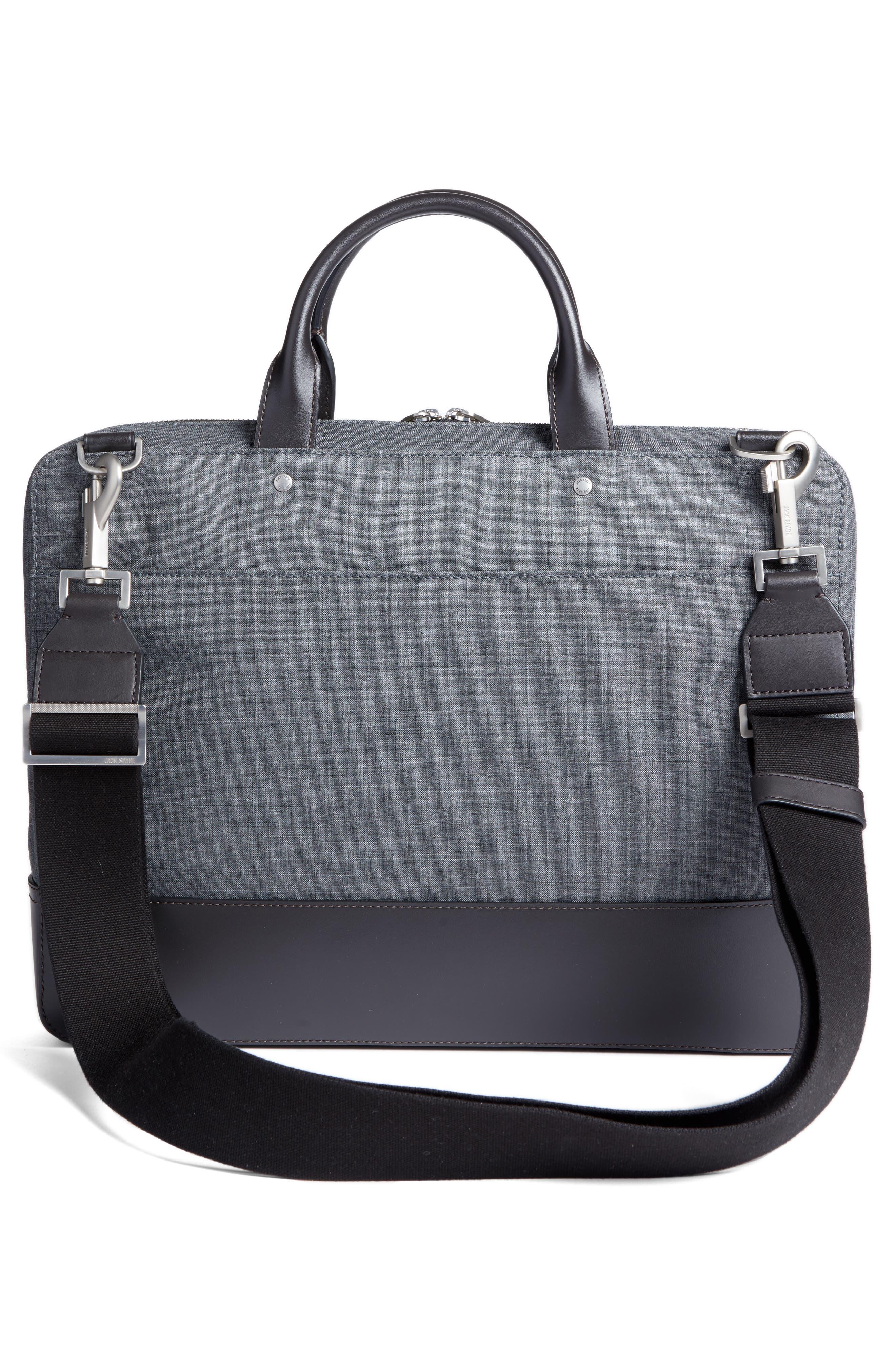 Tech Oxford Briefcase,                             Alternate thumbnail 3, color,                             Grey