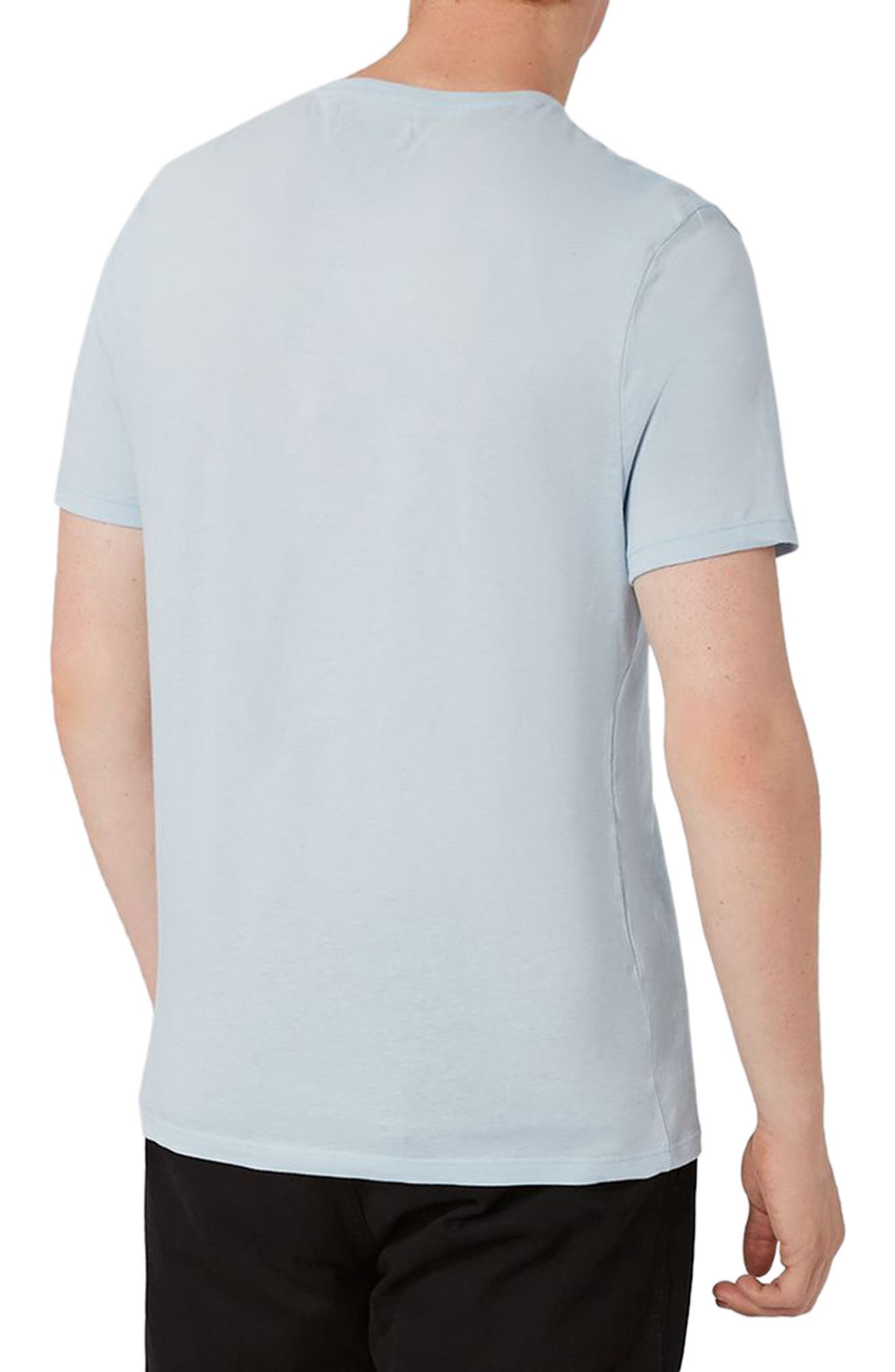 Lightweight Cotton T-Shirt,                             Alternate thumbnail 2, color,                             Light Blue