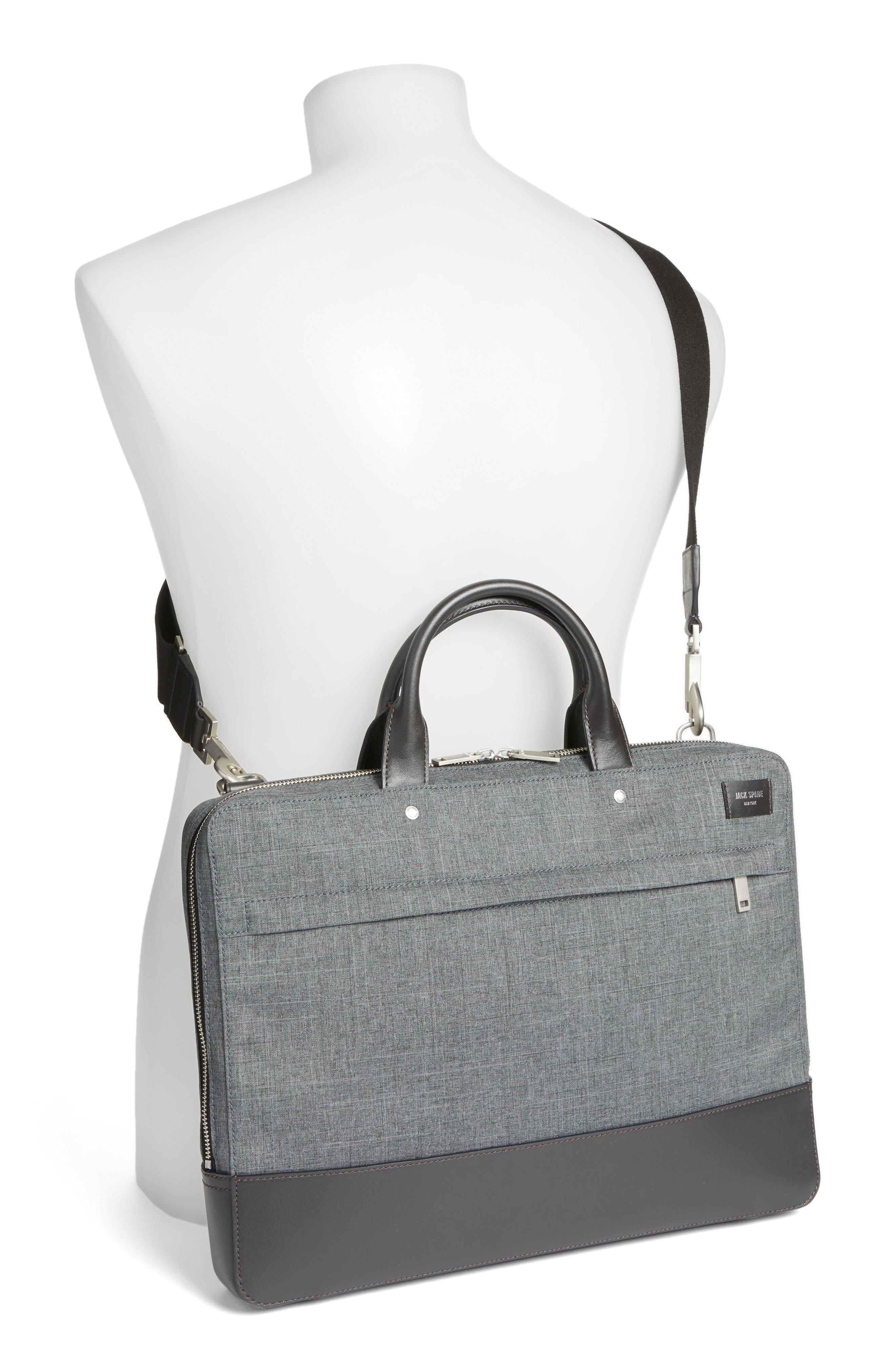 Tech Oxford Briefcase,                             Alternate thumbnail 2, color,                             Grey