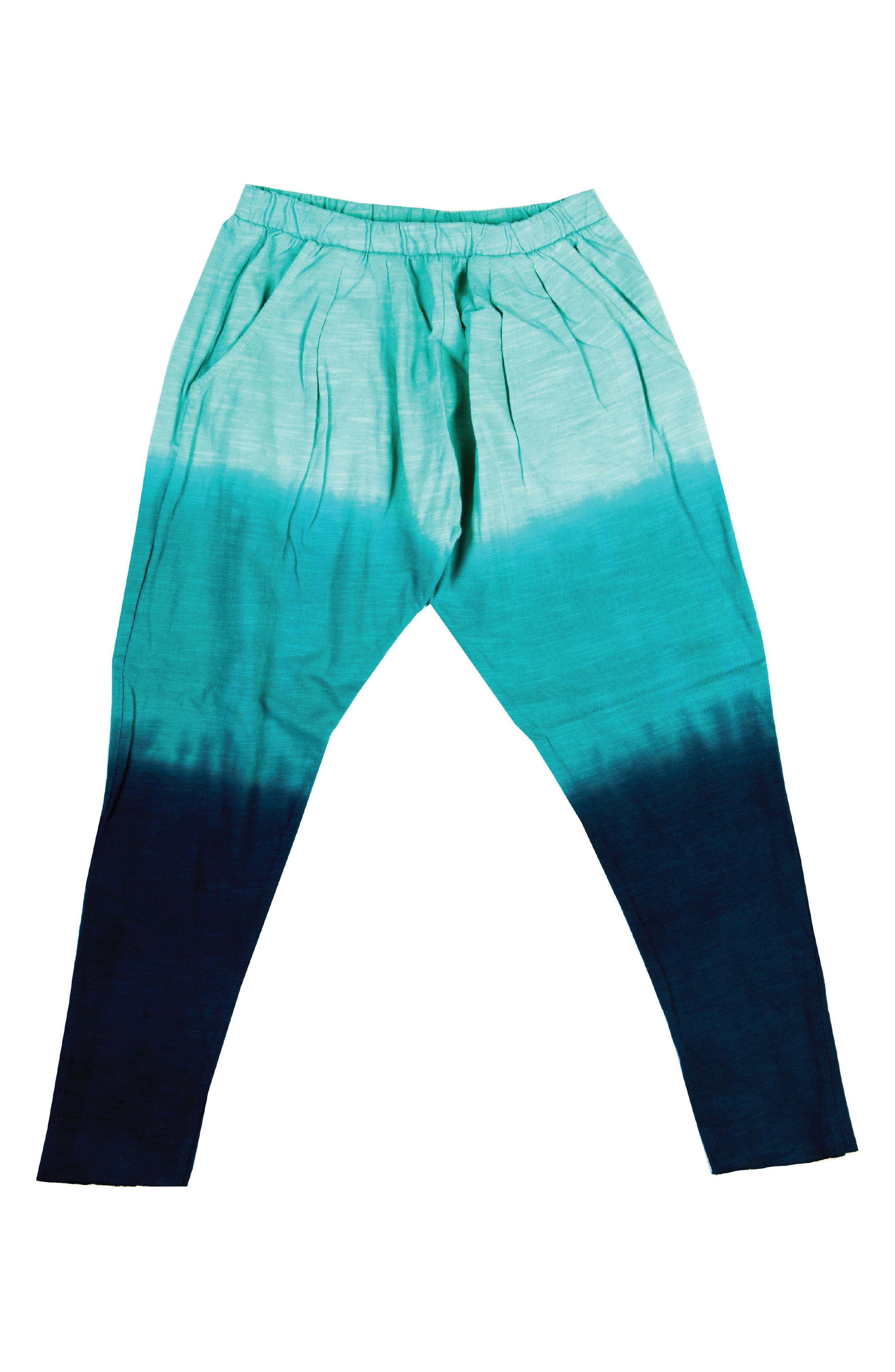 Dip Dye Harem Pants,                         Main,                         color, Aqua