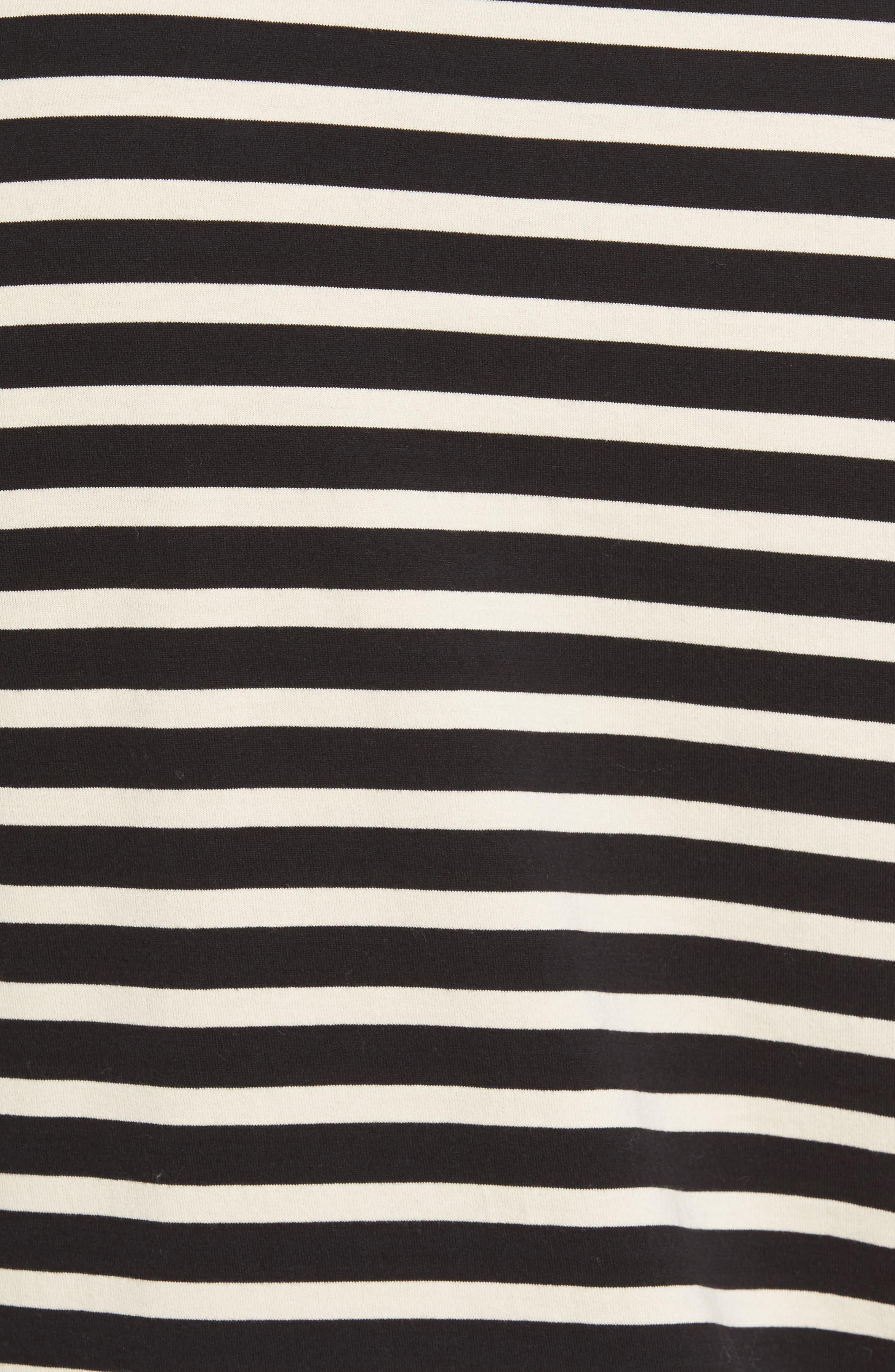 Stripe T-Shirt,                             Alternate thumbnail 6, color,                             Black/ Off White