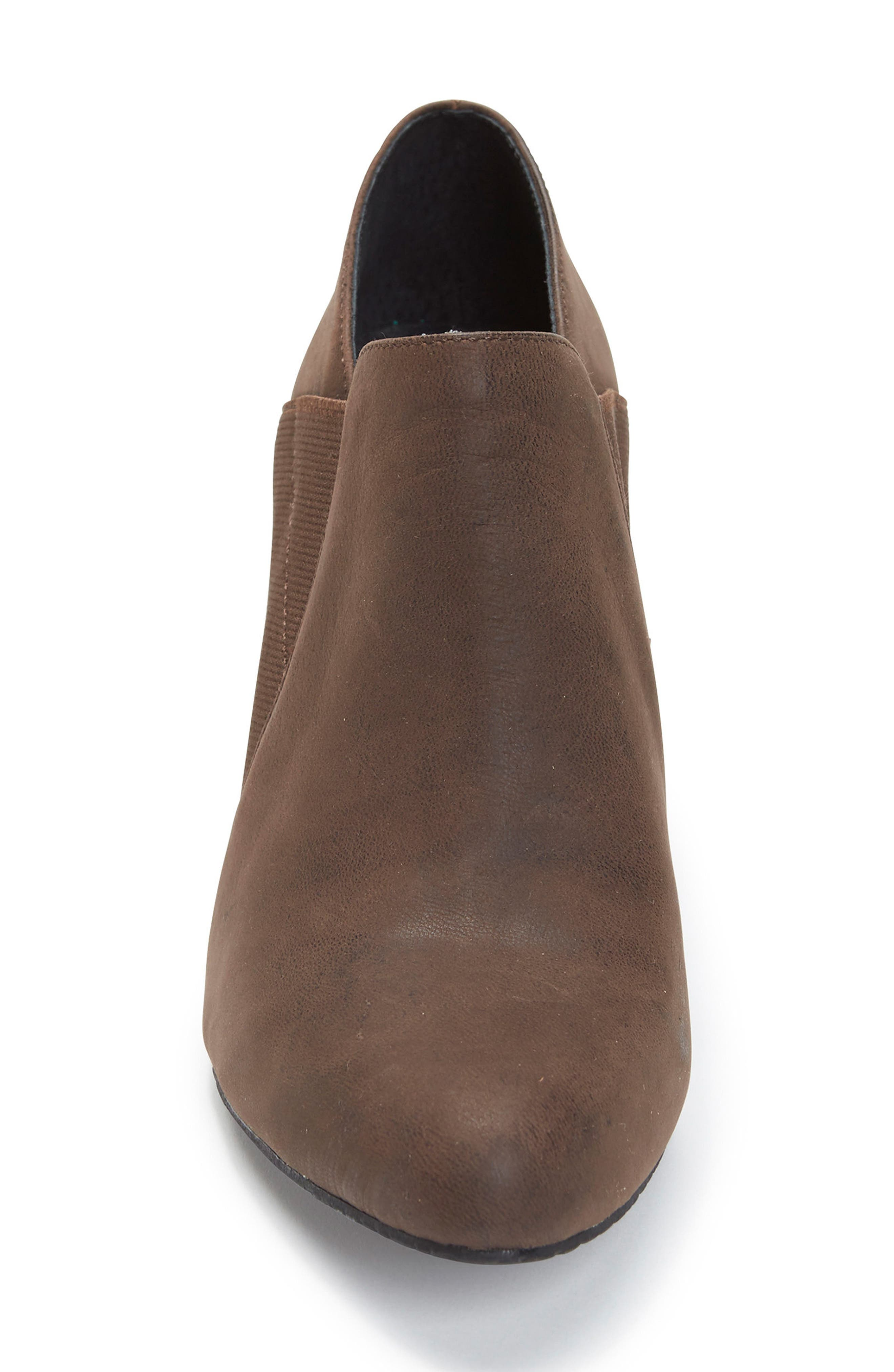 Zayna Bootie,                             Alternate thumbnail 4, color,                             Cuban Brown Leather