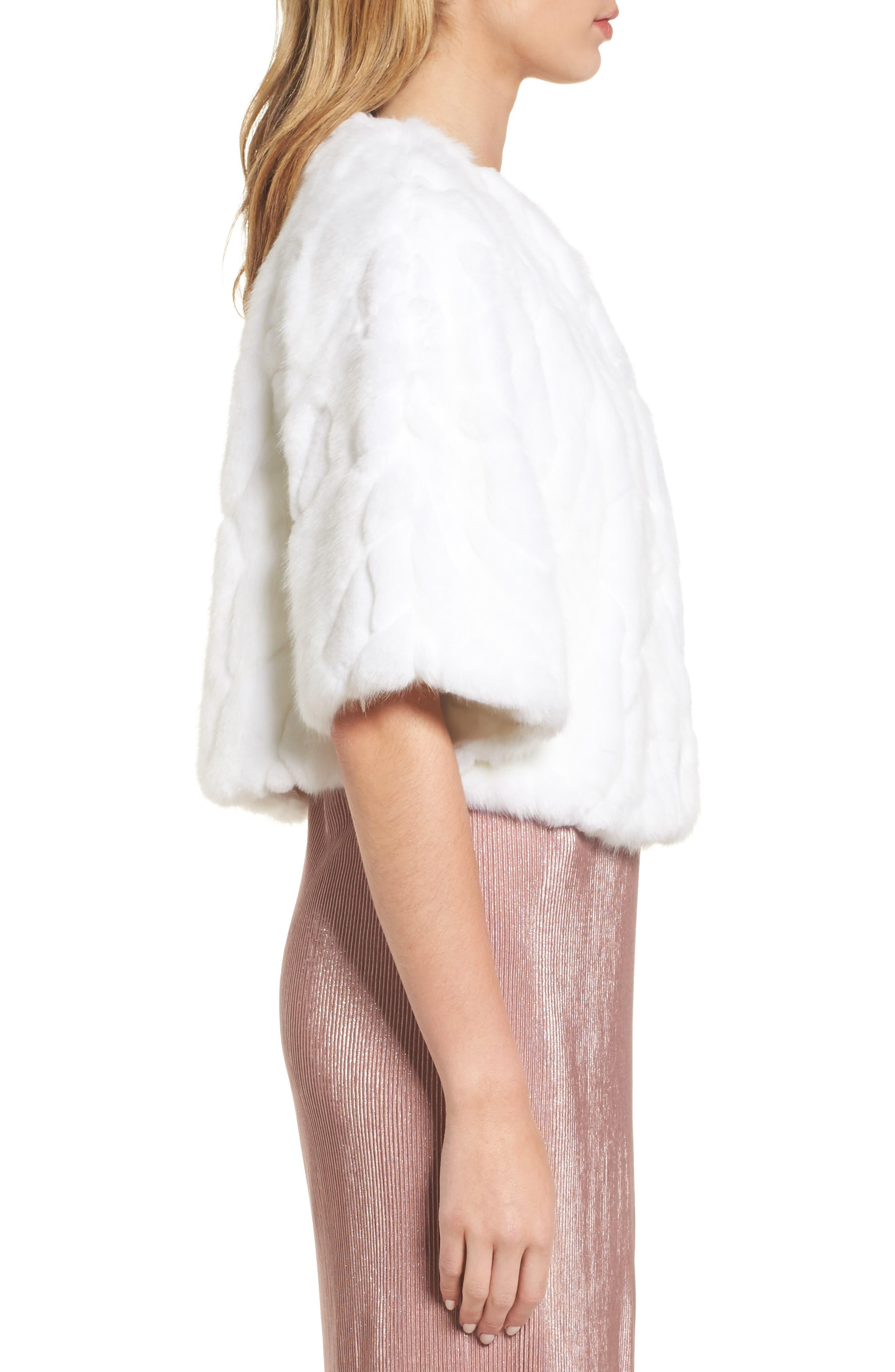 Alternate Image 3  - Nordstrom Faux Fur Capelet