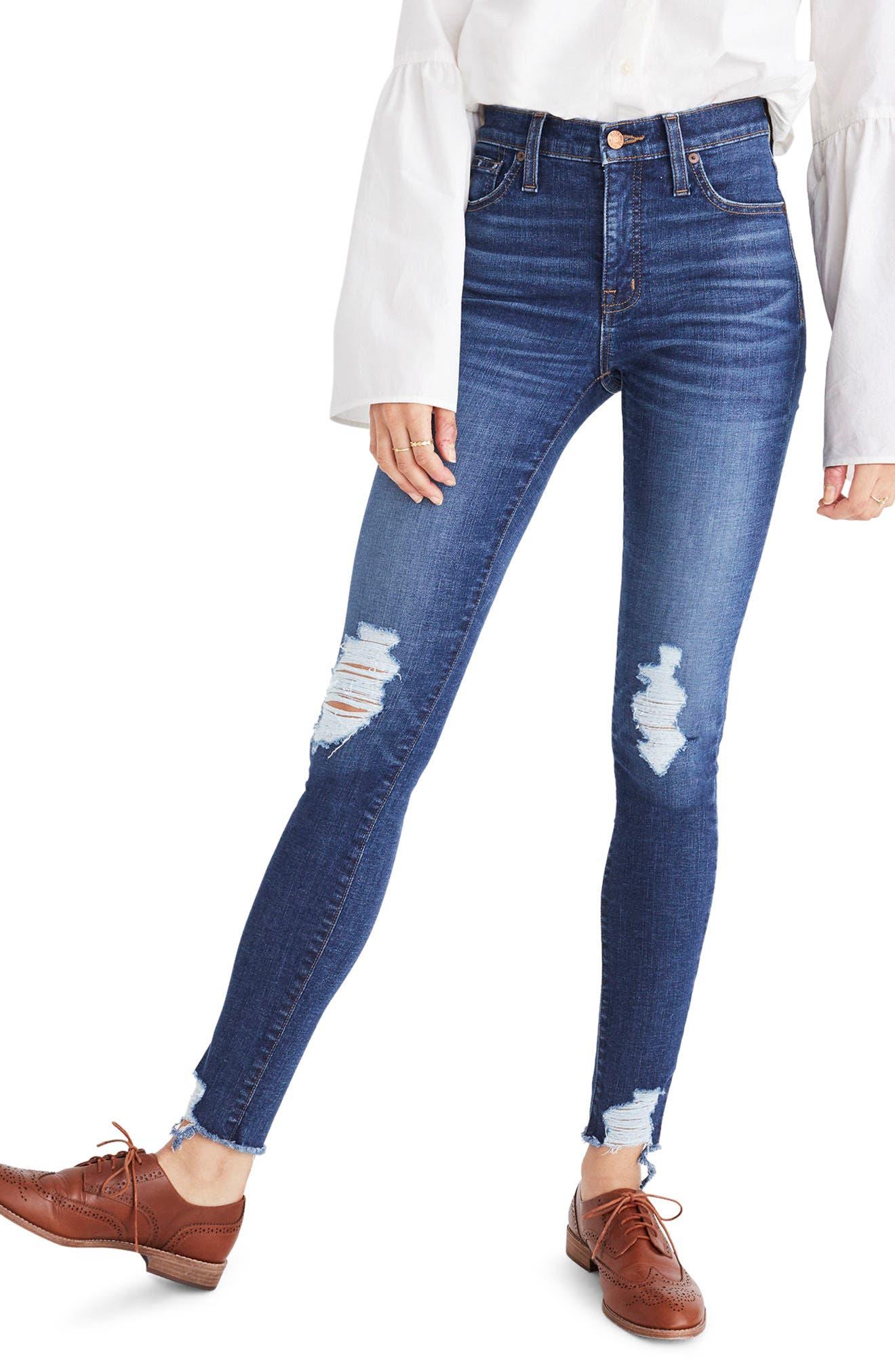 Main Image - Madewell 9-Inch High Waist Skinny Jeans (Kurt Wash)