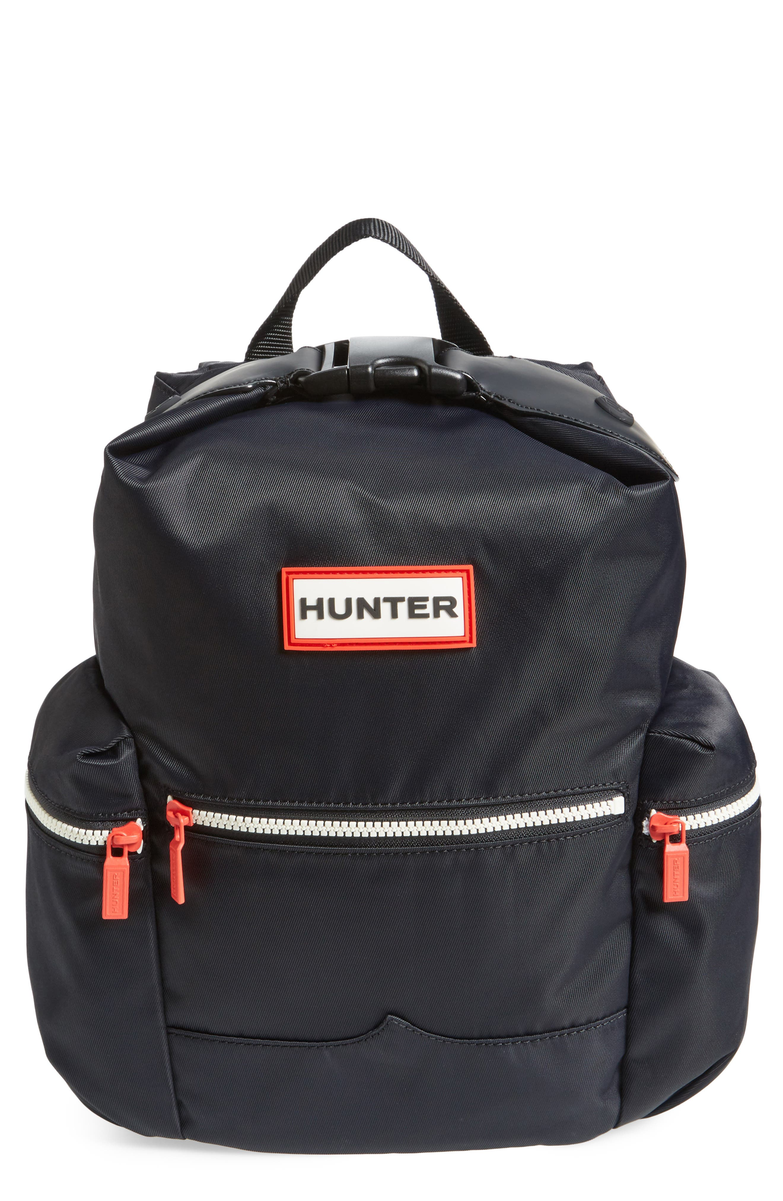 Original Mini Top Clip Nylon Backpack,                         Main,                         color, Black