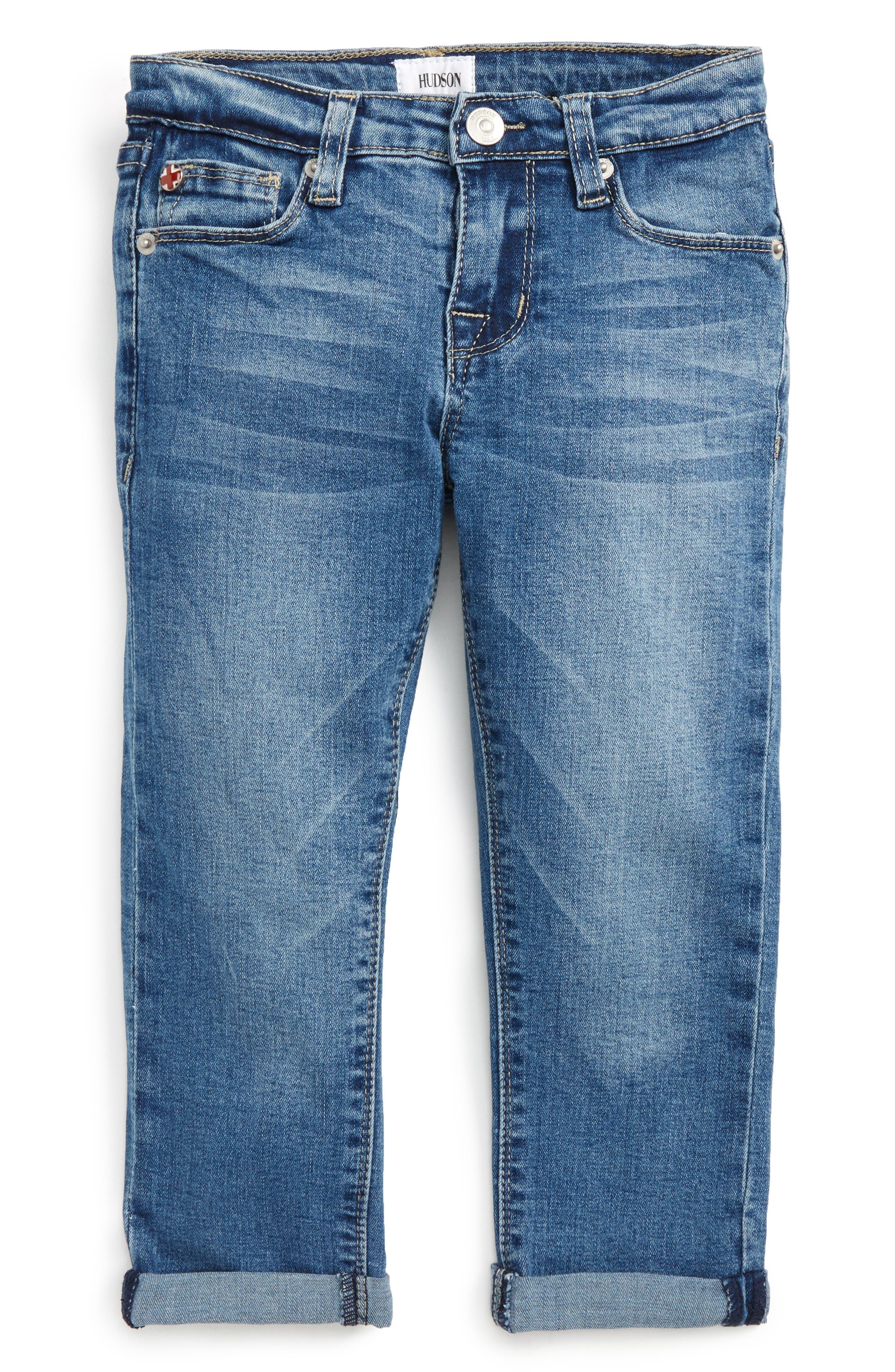 Rolled Crop Jeans,                         Main,                         color, Light Indigo