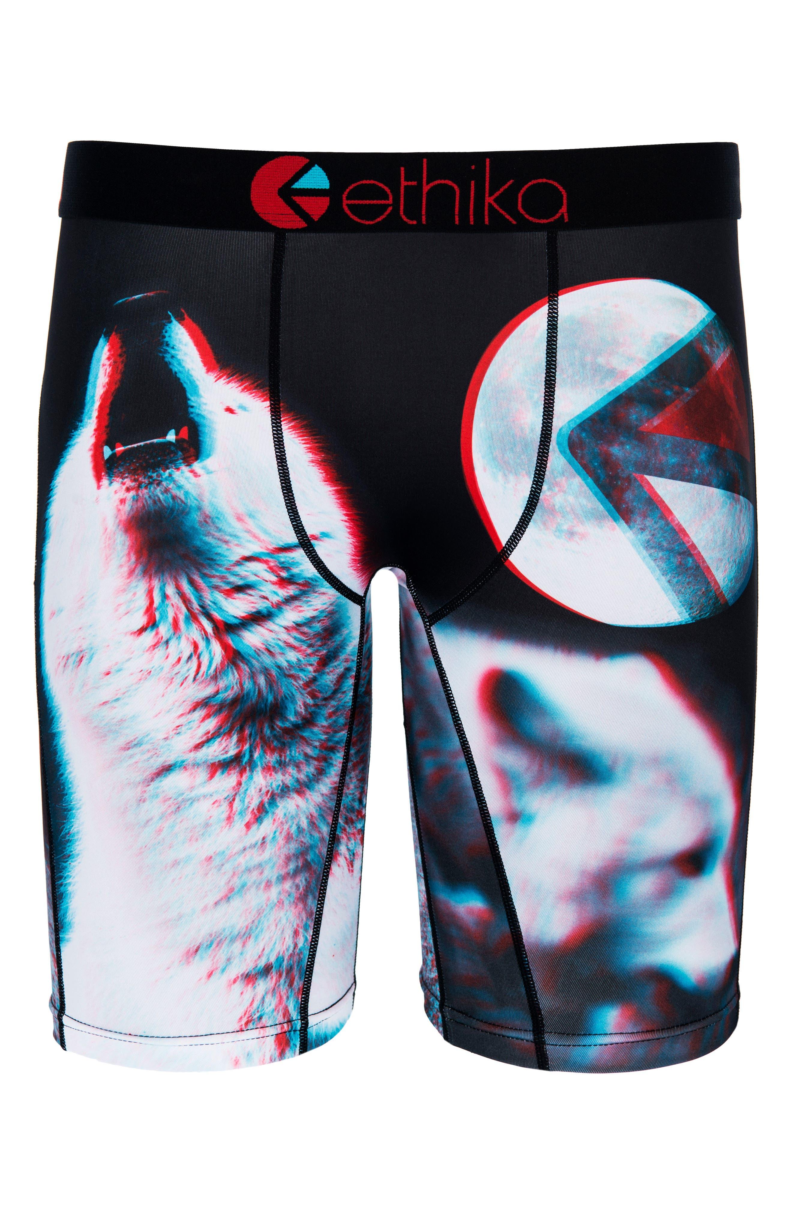 Alpha Moon 3D Boxer Briefs,                         Main,                         color, Black Multi
