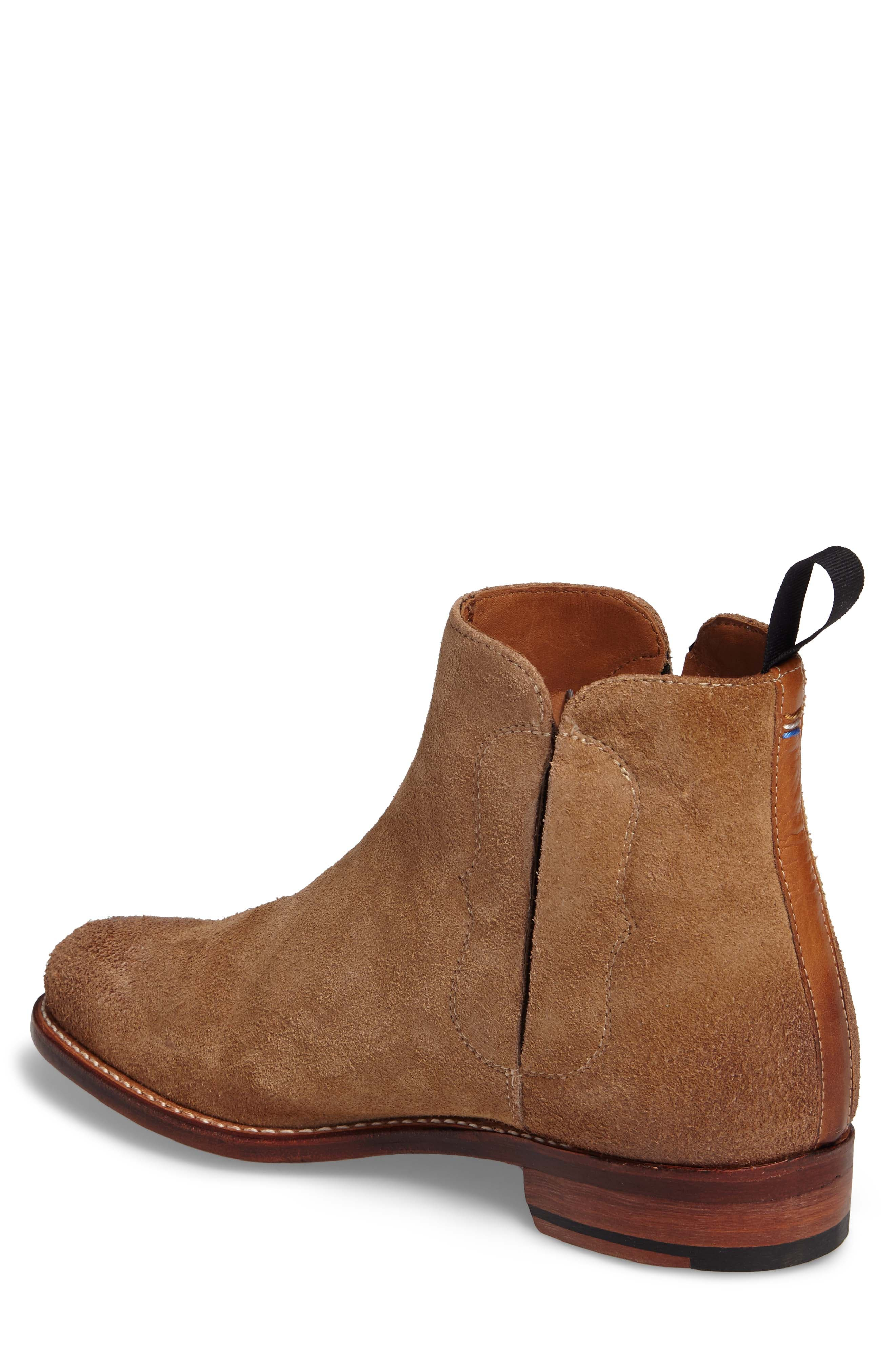 Ariat Maxwell Chelsea Boot,                             Alternate thumbnail 2, color,                             Amaretto Suede