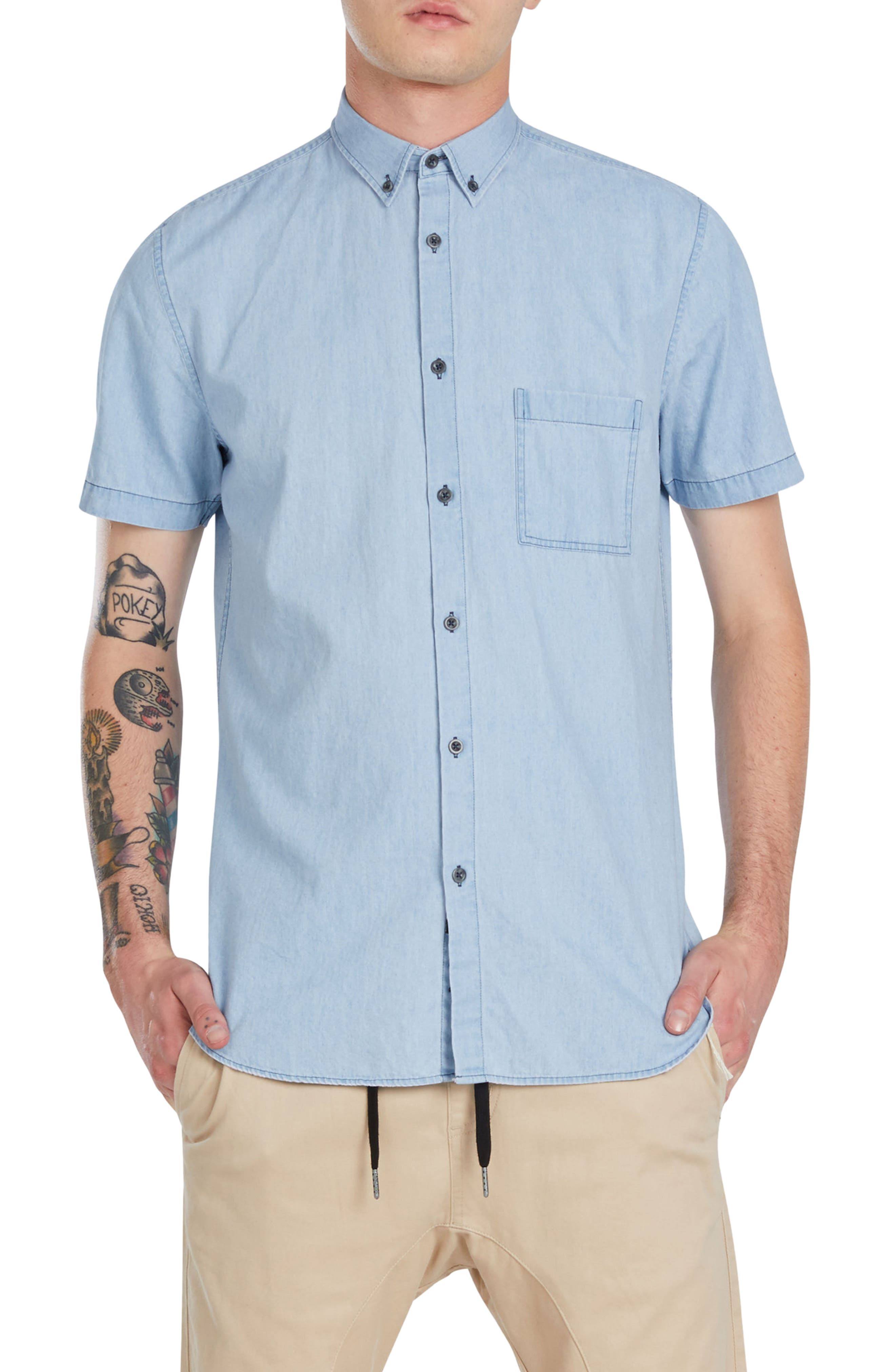 ZANEROBE 7ft Chambray Woven Shirt