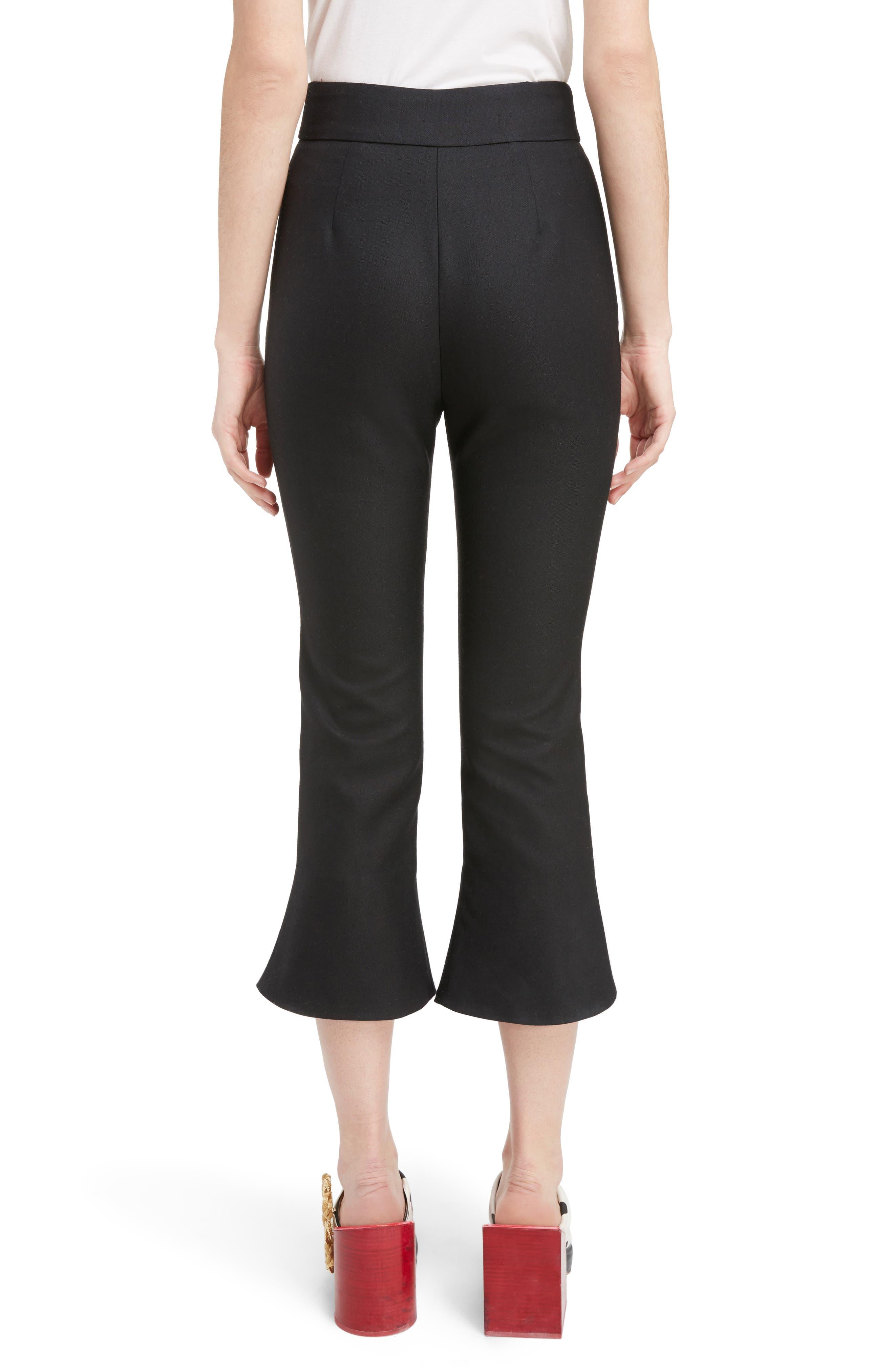 Alternate Image 2  - Jacquemus Slit Cuff Crop Flare Pants