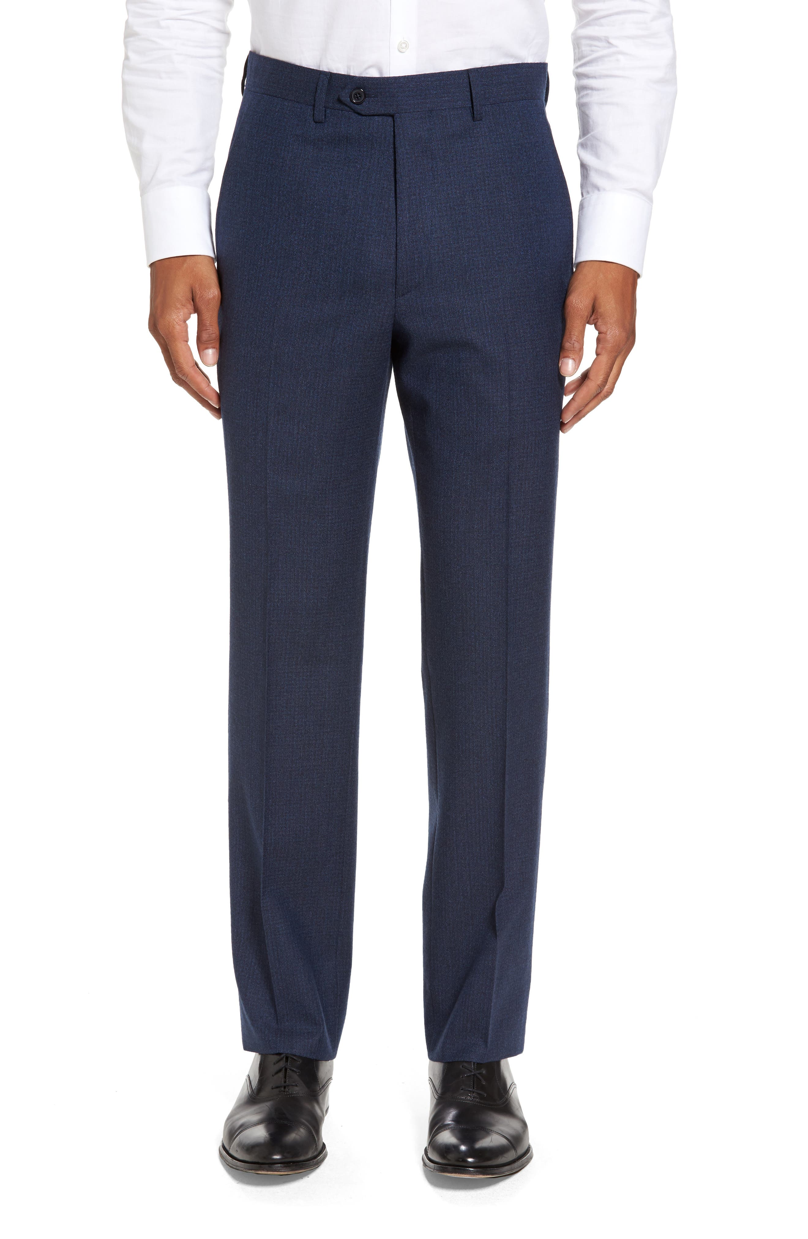 Santorelli Romero Regular Fit Flat Front Trousers