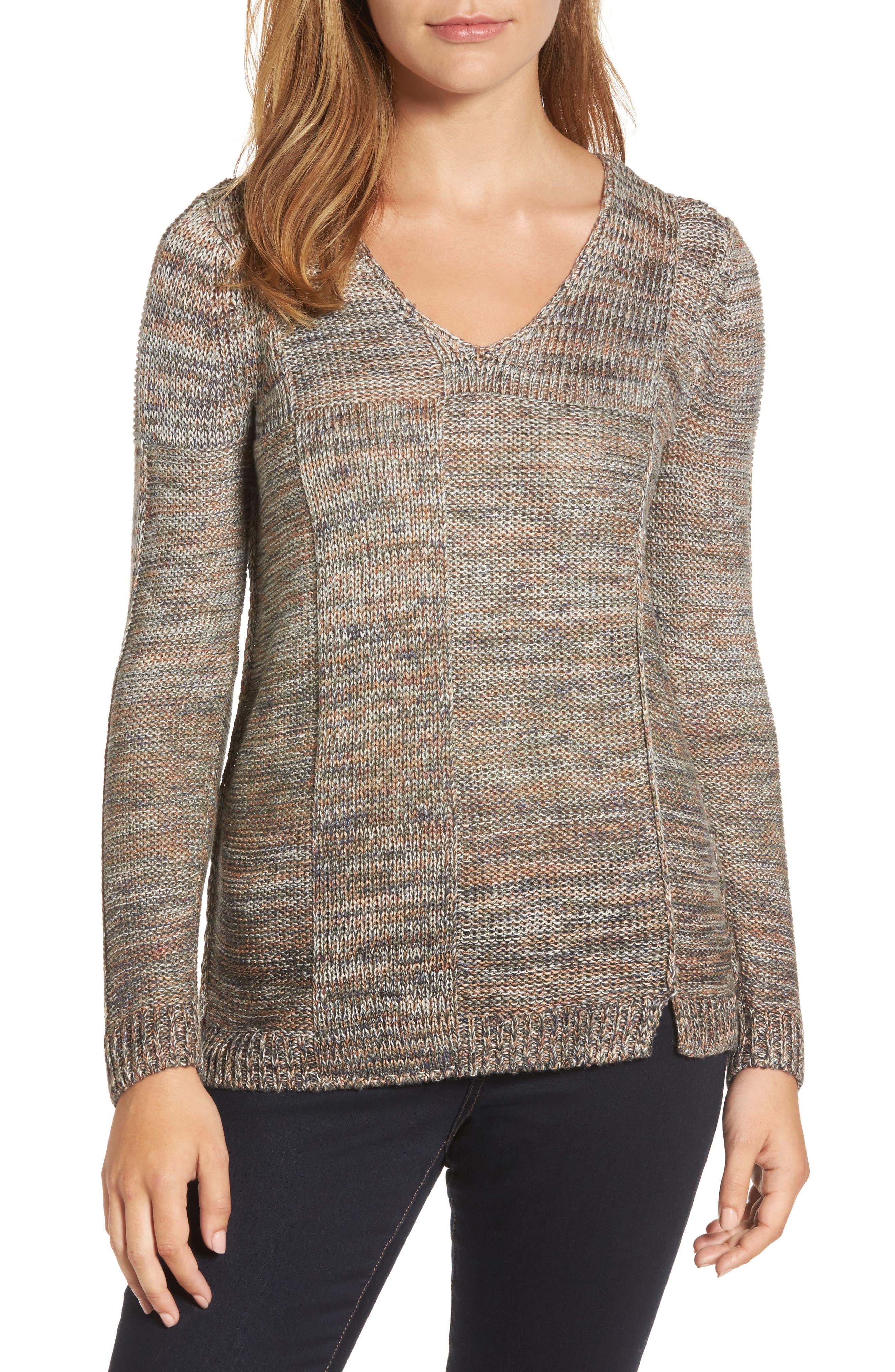 Textured Ombré Sweater,                             Main thumbnail 1, color,                             Multi