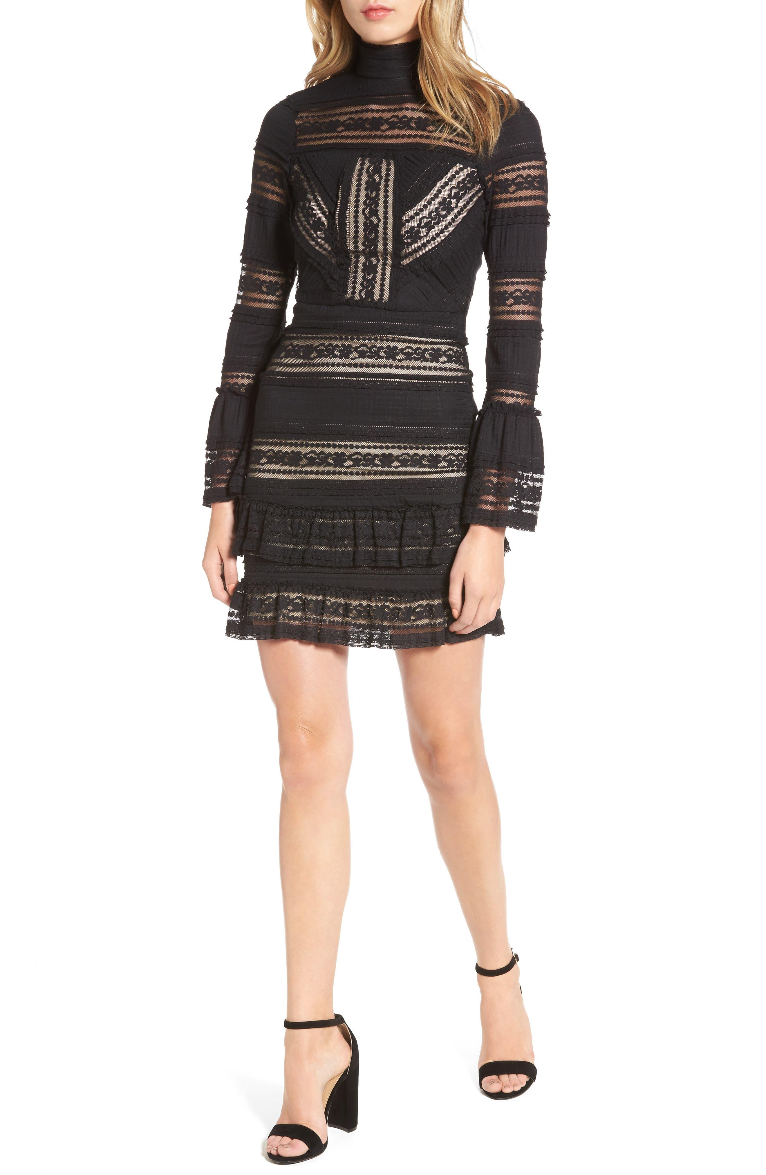 Topanga Lace Sheath Dress,                         Main,                         color, Black