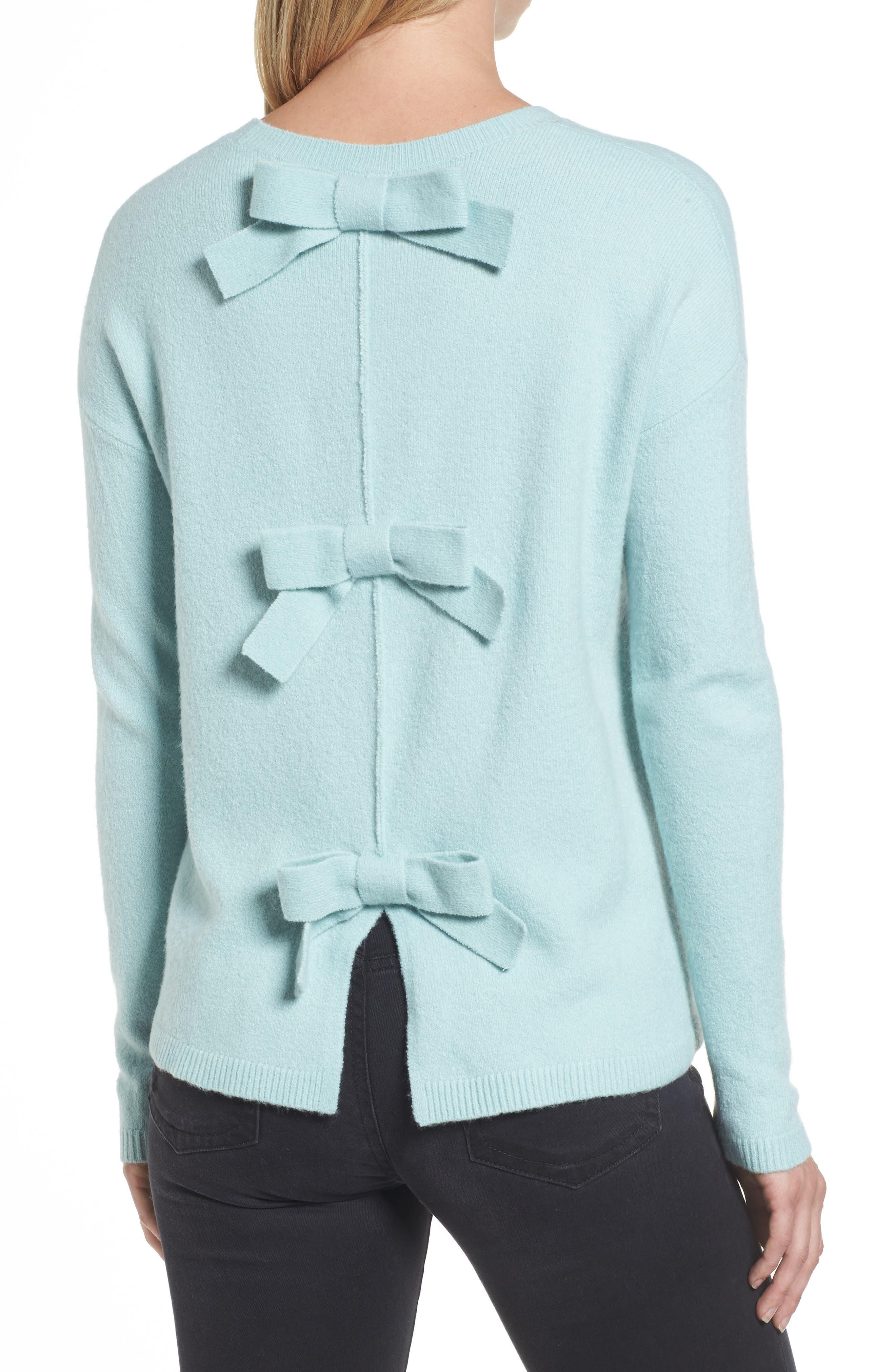 Alternate Image 2  - Halogen® Bow Back Sweater (Regular & Petite)