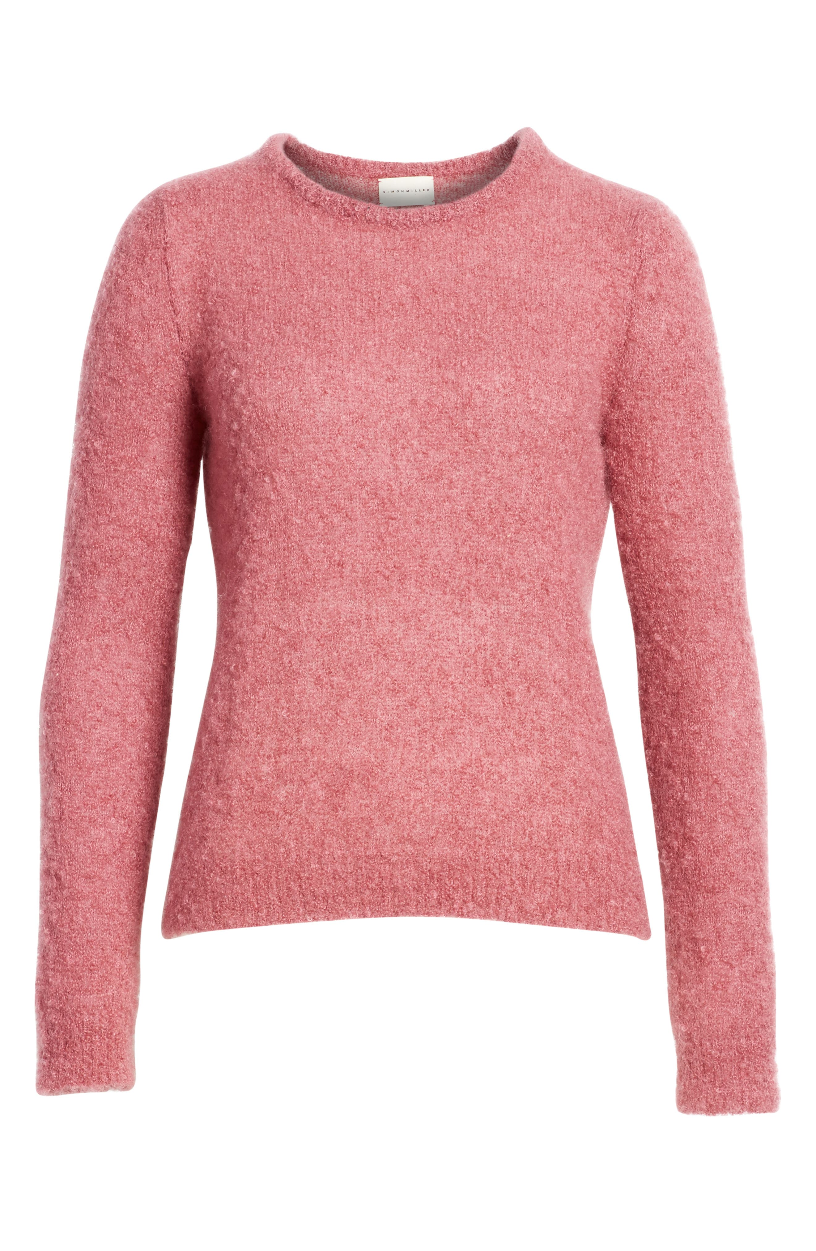 Tatum Mohair & Silk Sweater,                             Alternate thumbnail 6, color,                             Ruby Pink