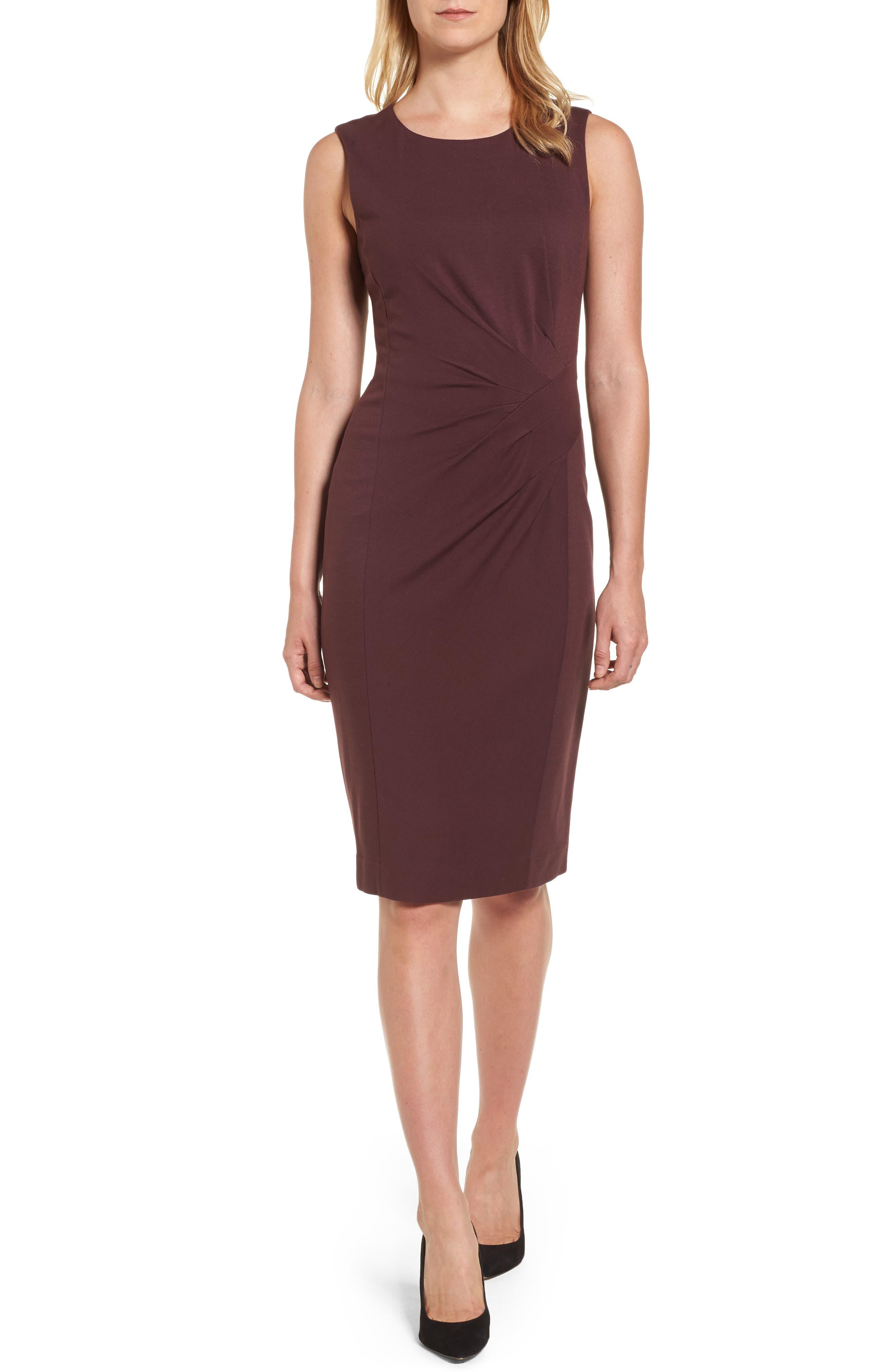 Emerson Rose Pleated Ponte Dress