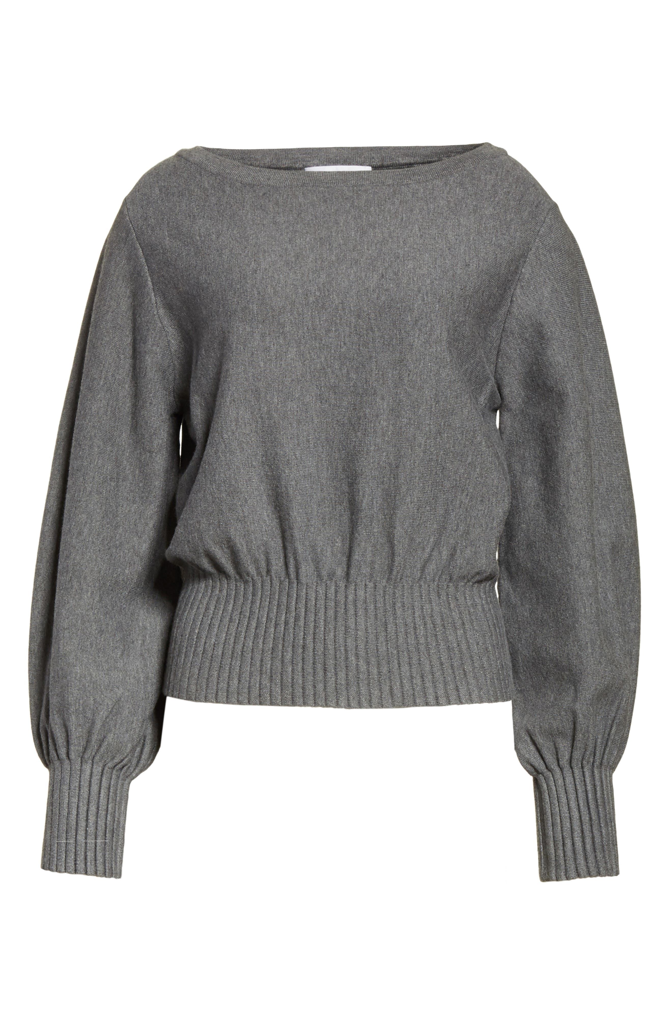 Couture Pintuck Pullover,                             Alternate thumbnail 7, color,                             Heather Grey