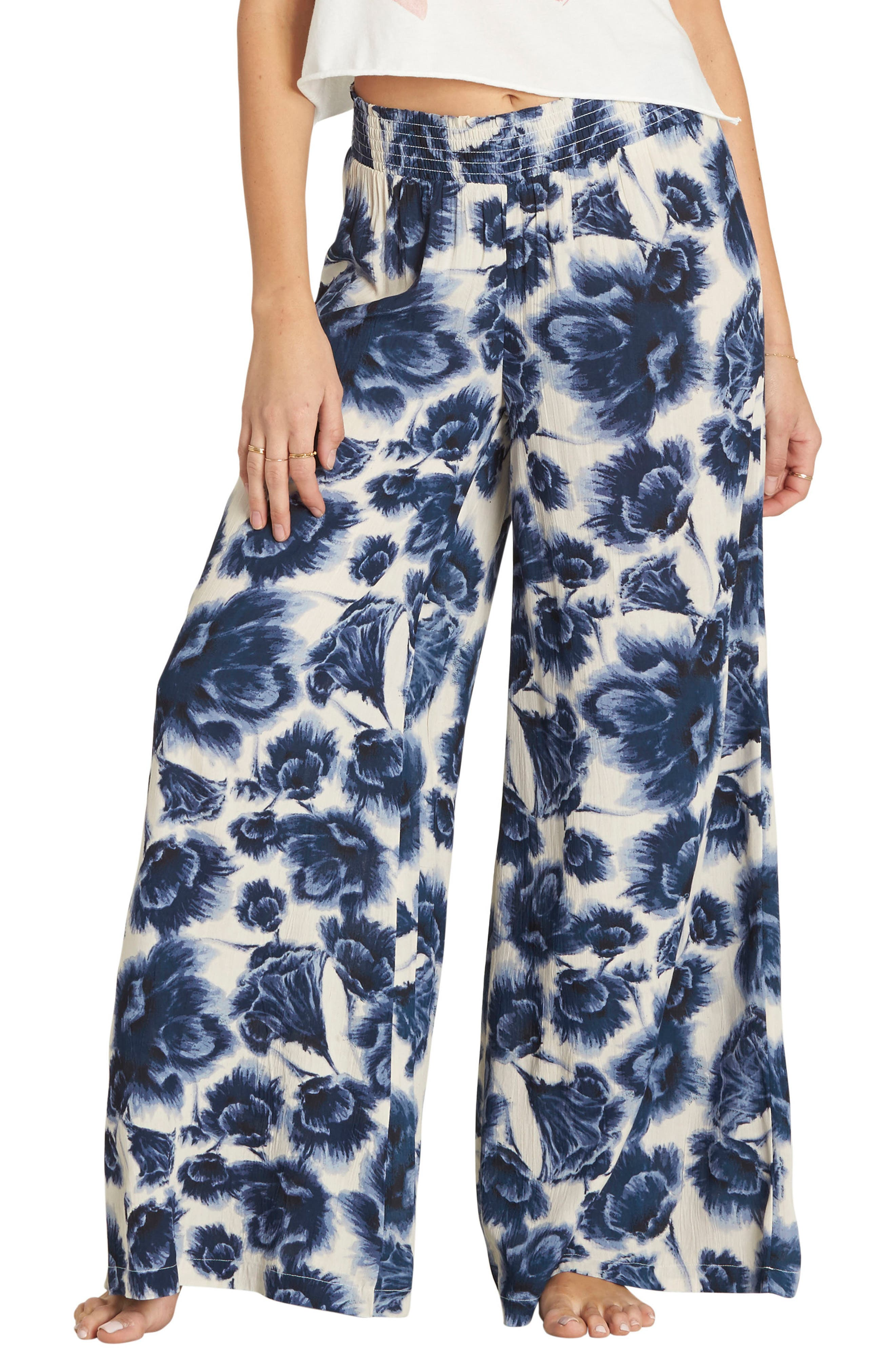 Billabong Midnight Kiss Floral Print Pants