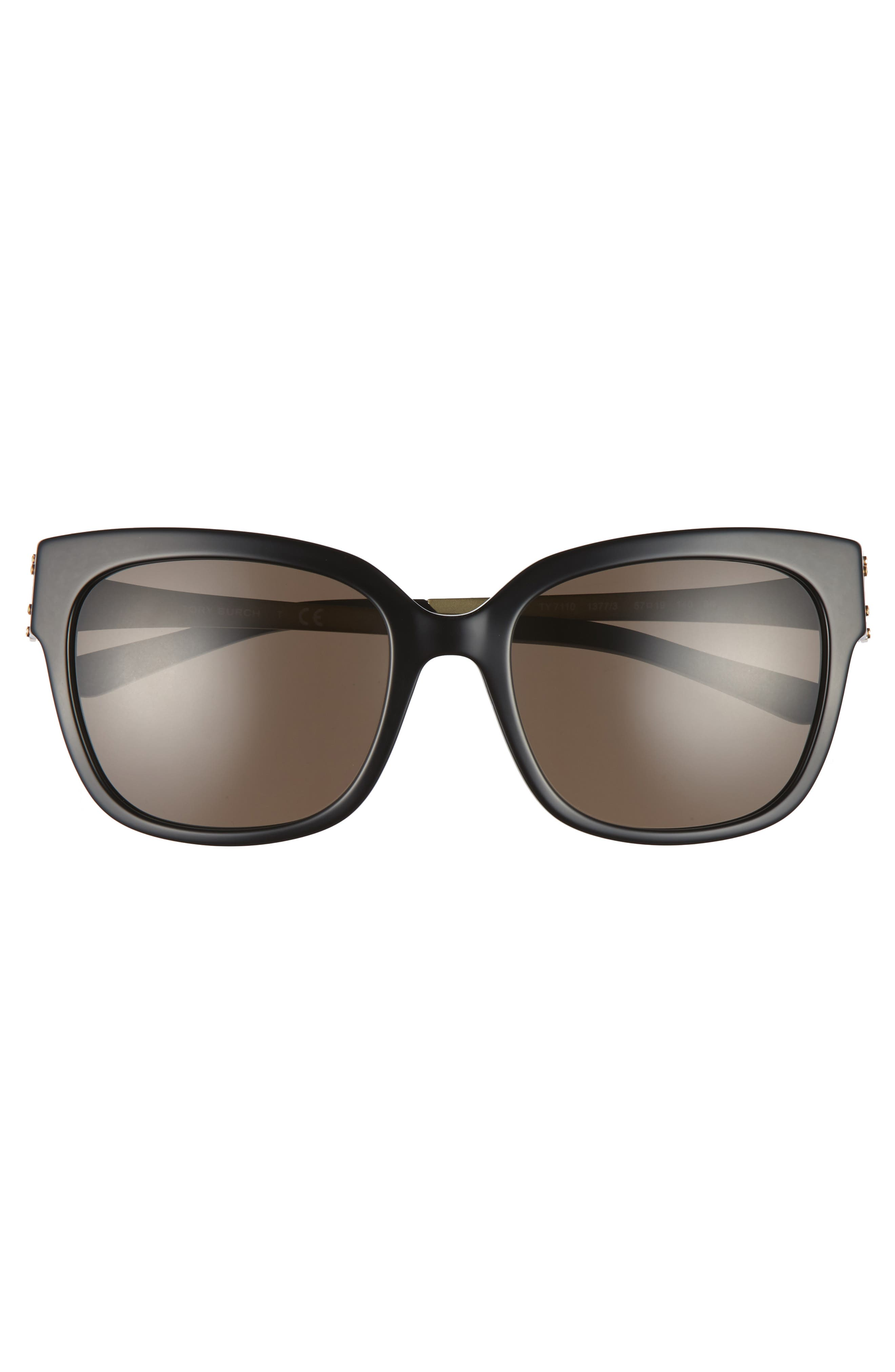 57mm Sunglasses,                             Alternate thumbnail 3, color,                             Black
